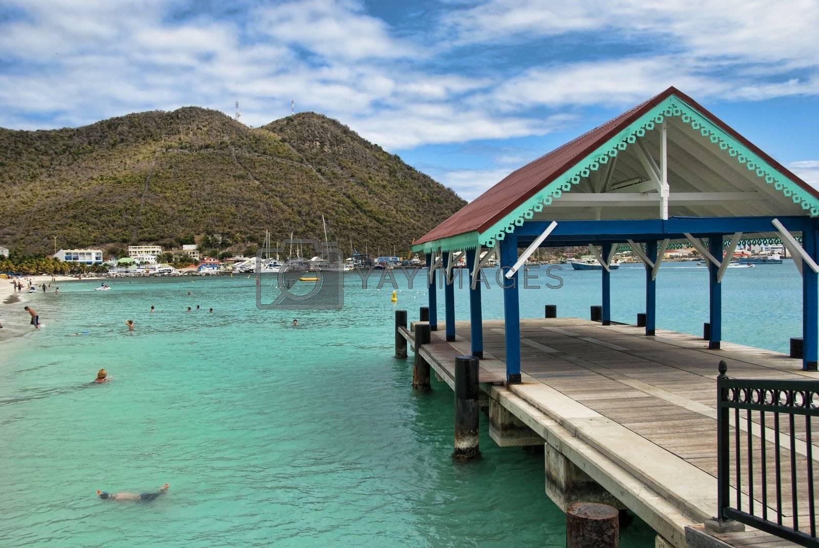 Coast in Saint Maarten Island, Dutch Antilles by jovannig