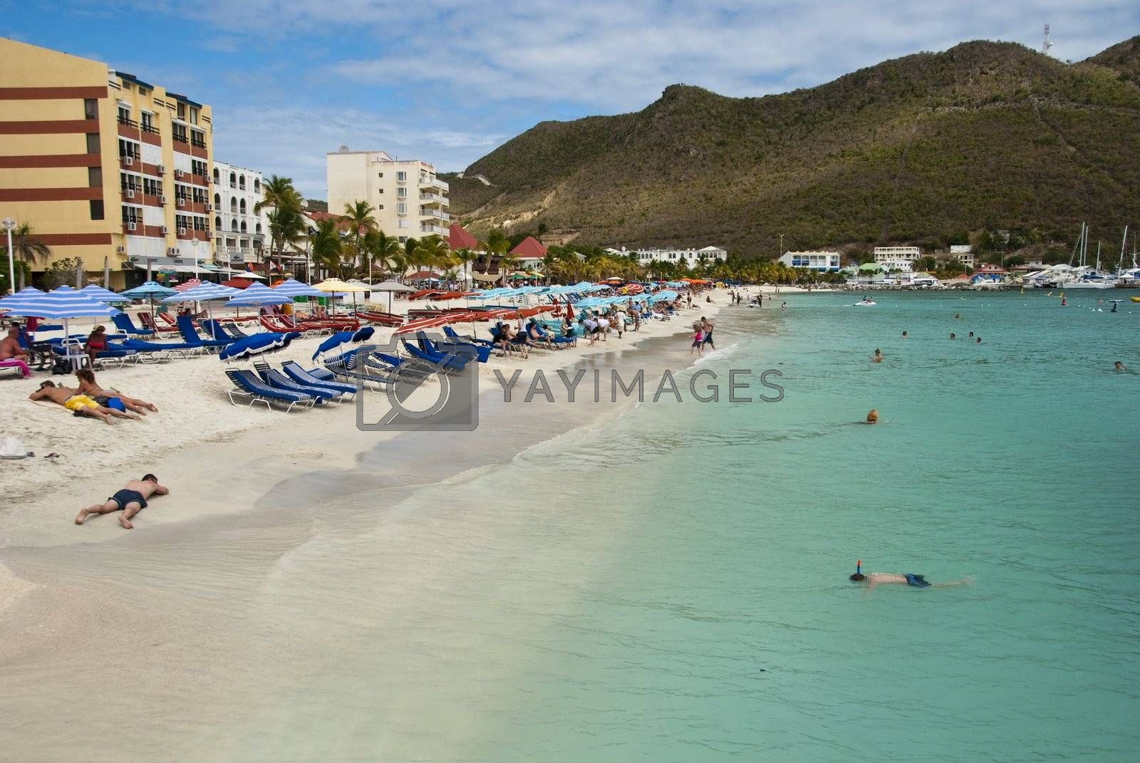 Coast in Saint Maarten Island, Dutch Antilles by jovannig