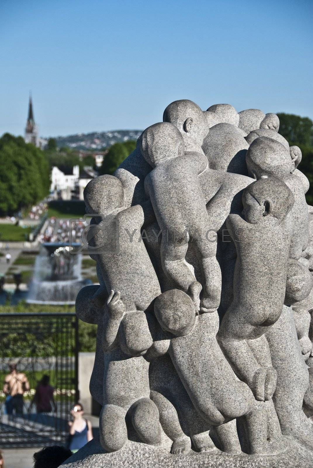 Statue in a Park of Oslo, Norway, May 2009 by jovannig