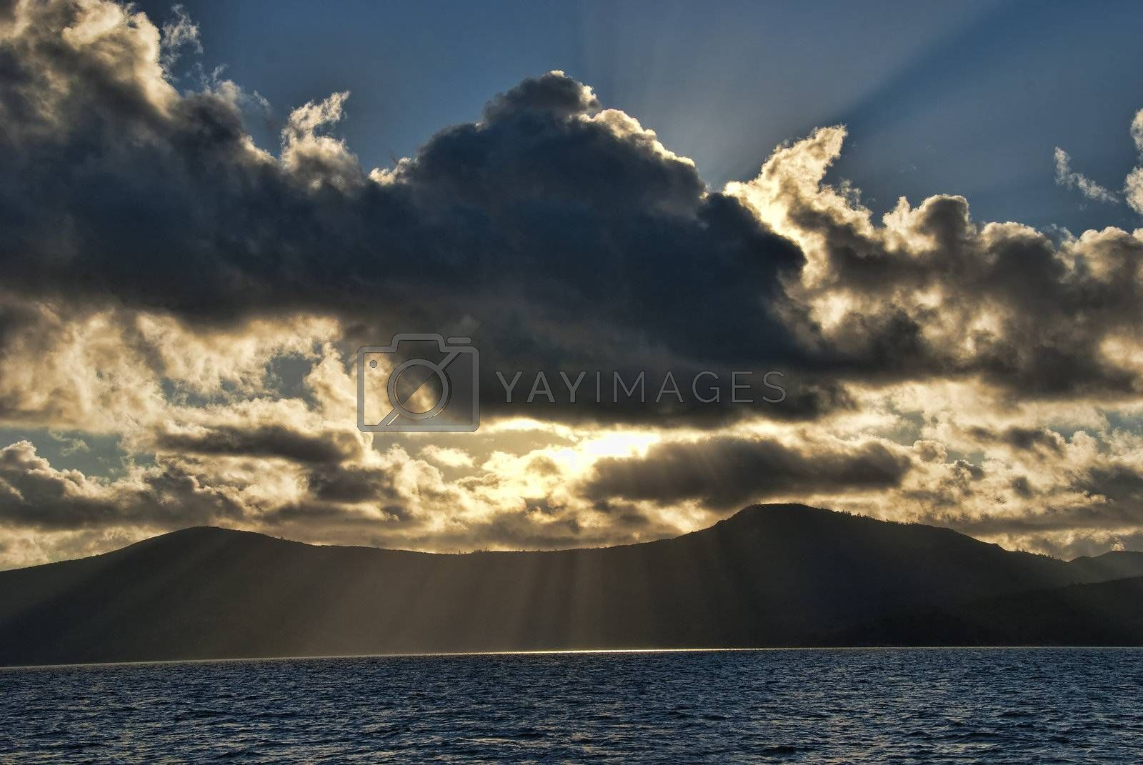 Sunset in the Whitsunday Islands by jovannig