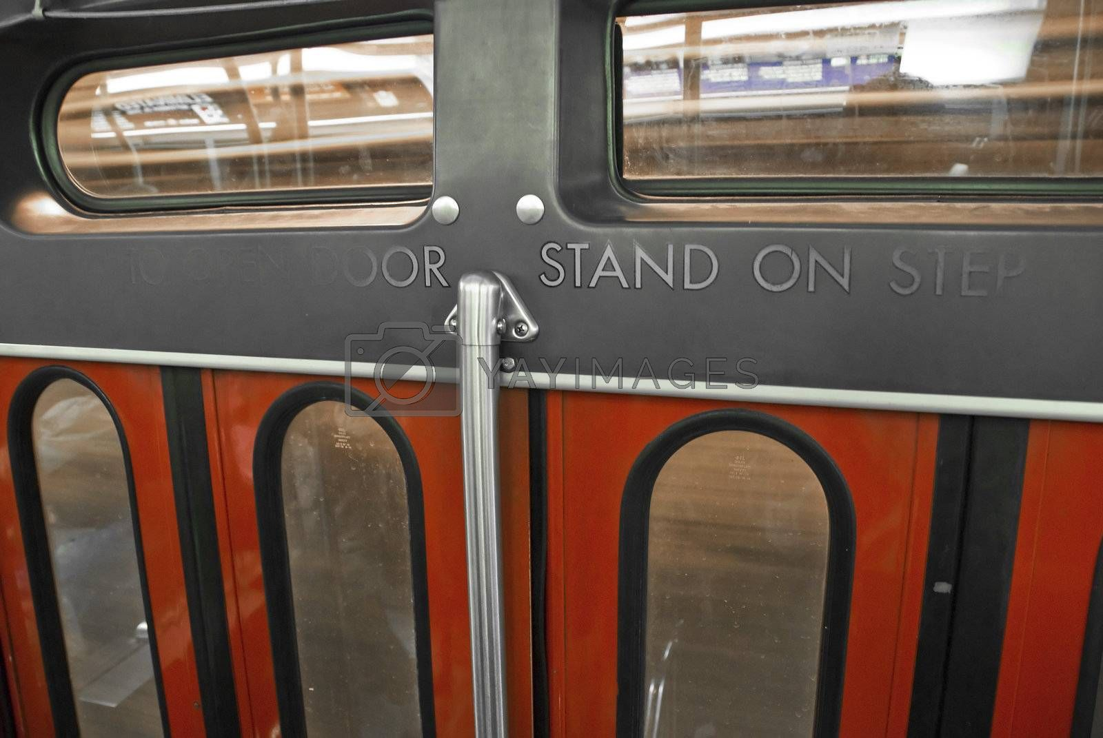 Doors closing on a Toronto Subway Train, Ontario, Canada by jovannig