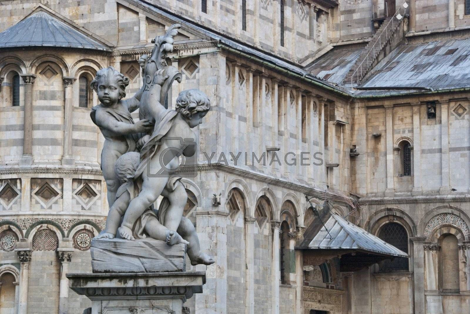 Architectural Detail of Piazza dei Miracoli, Pisa, Italy by jovannig