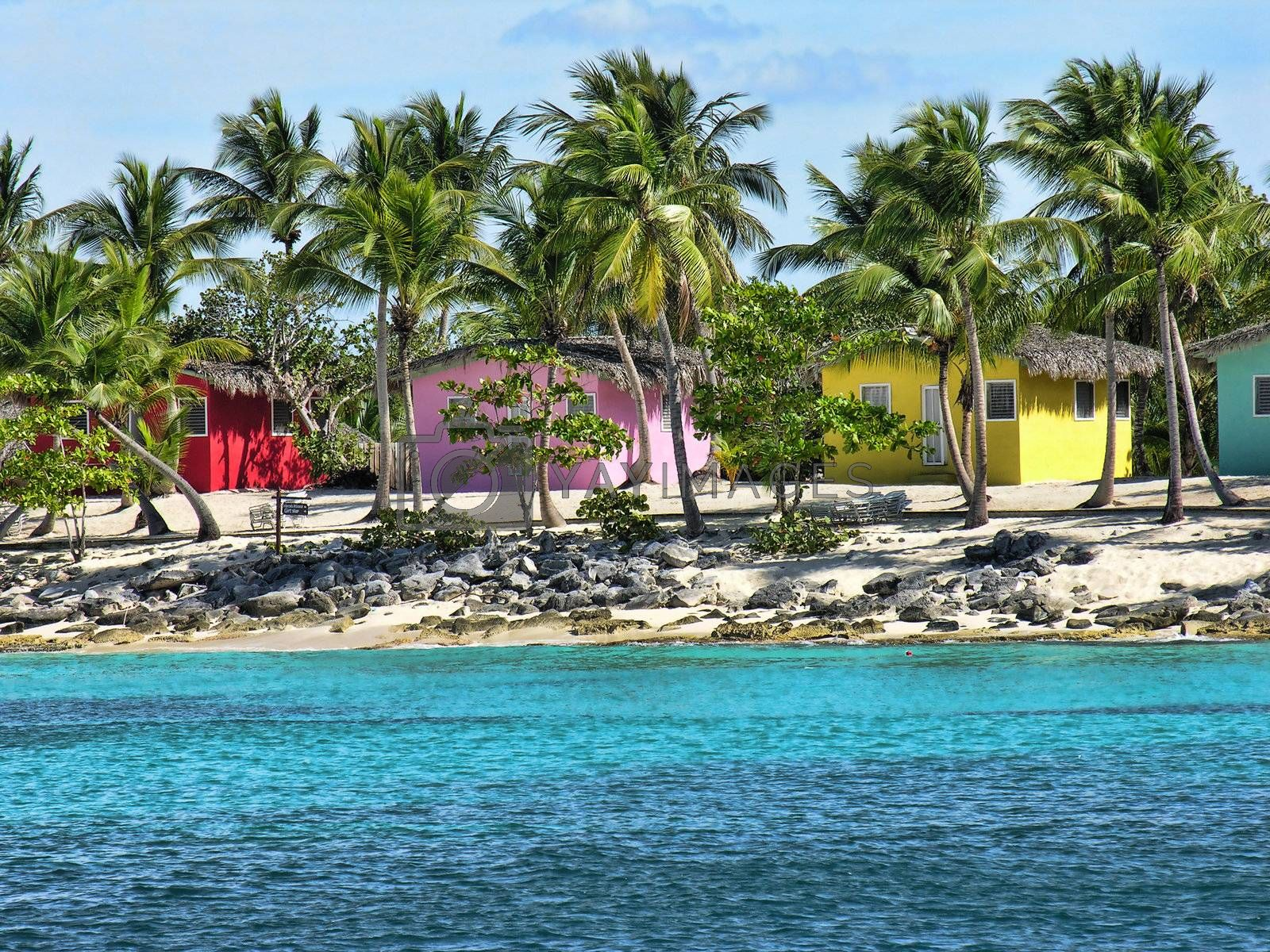 Small and Coloured Homes on the Coast of Santo Domingo by jovannig