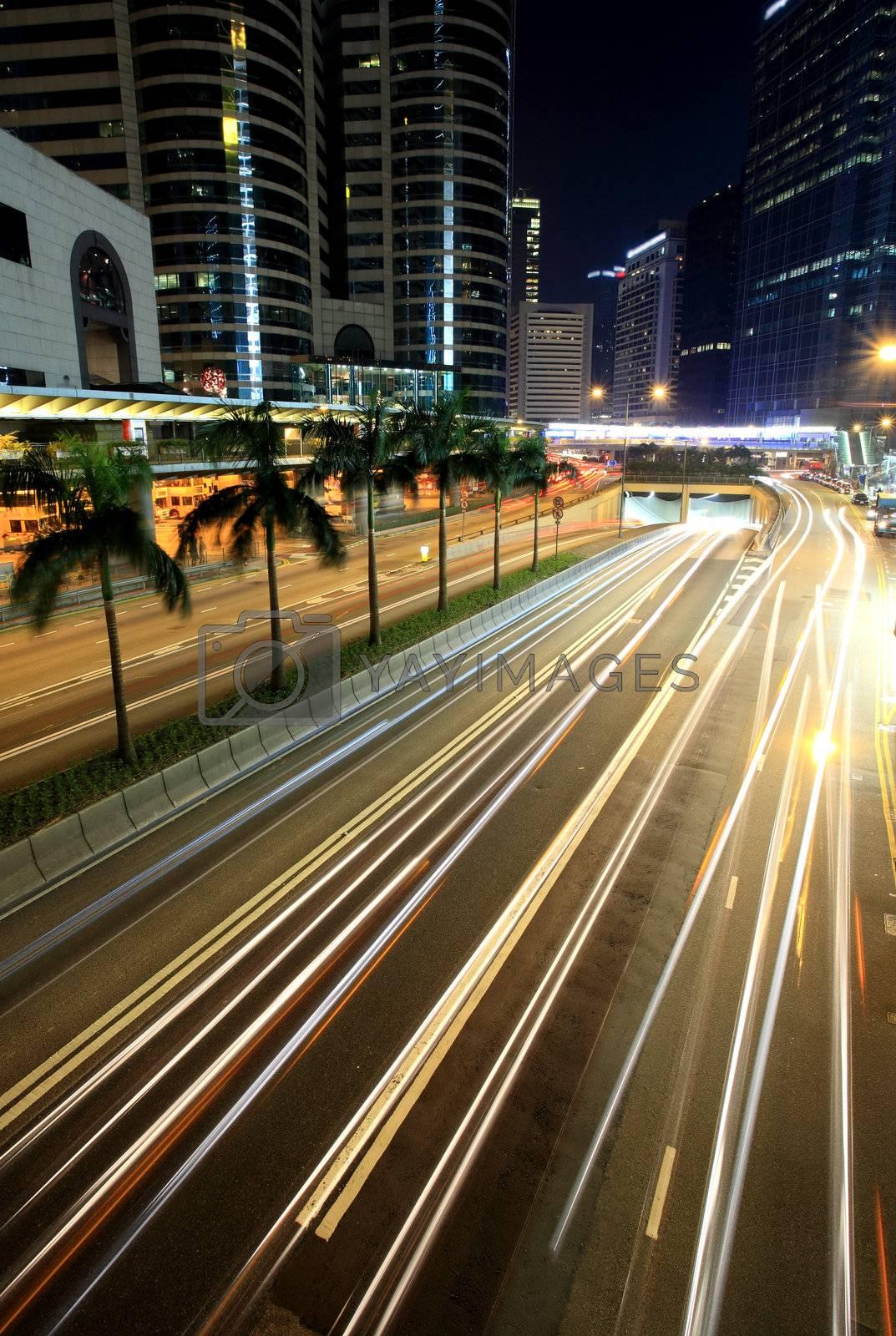 Royalty free image of Traffic in Hong Kong by leungchopan