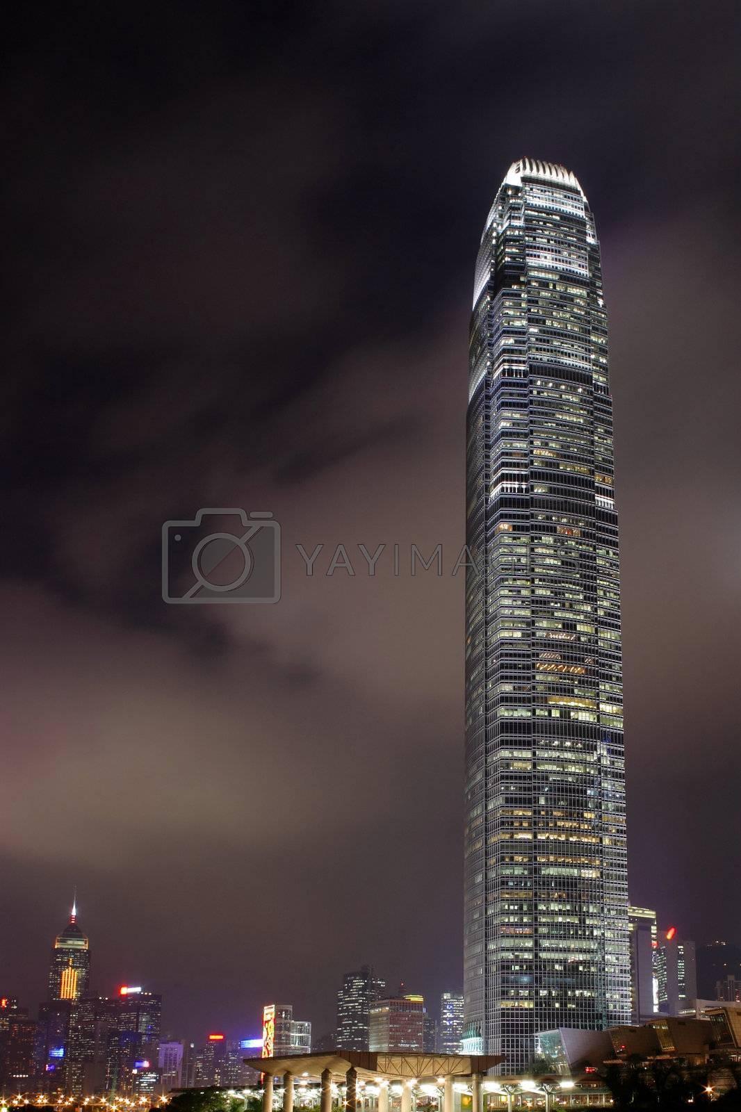 Royalty free image of Hong Kong at night by leungchopan