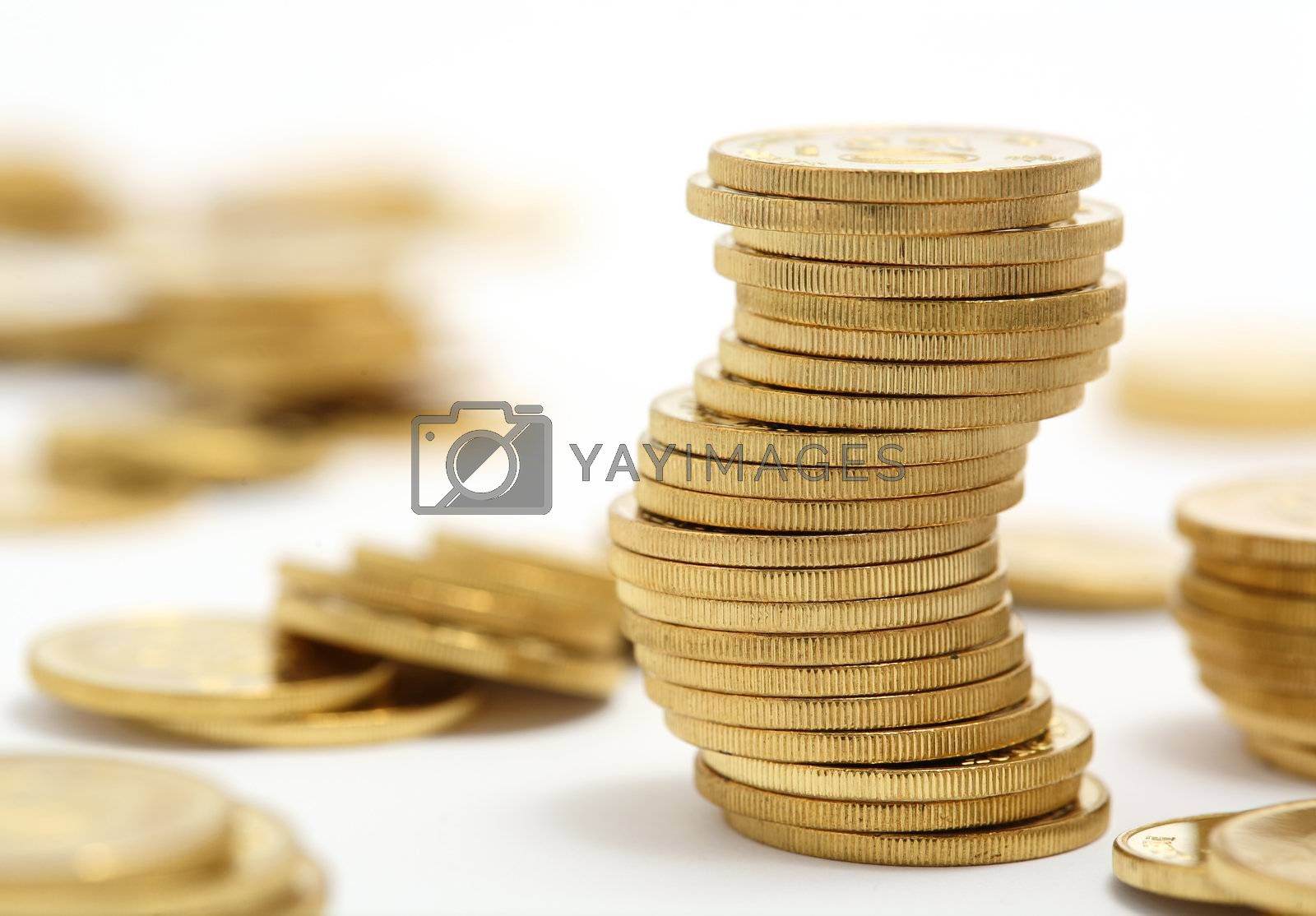 Royalty free image of coins by leungchopan