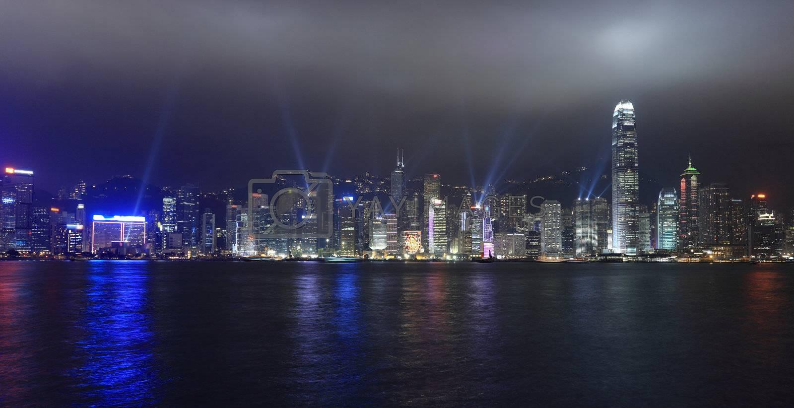lights show in Hong Kong by leungchopan