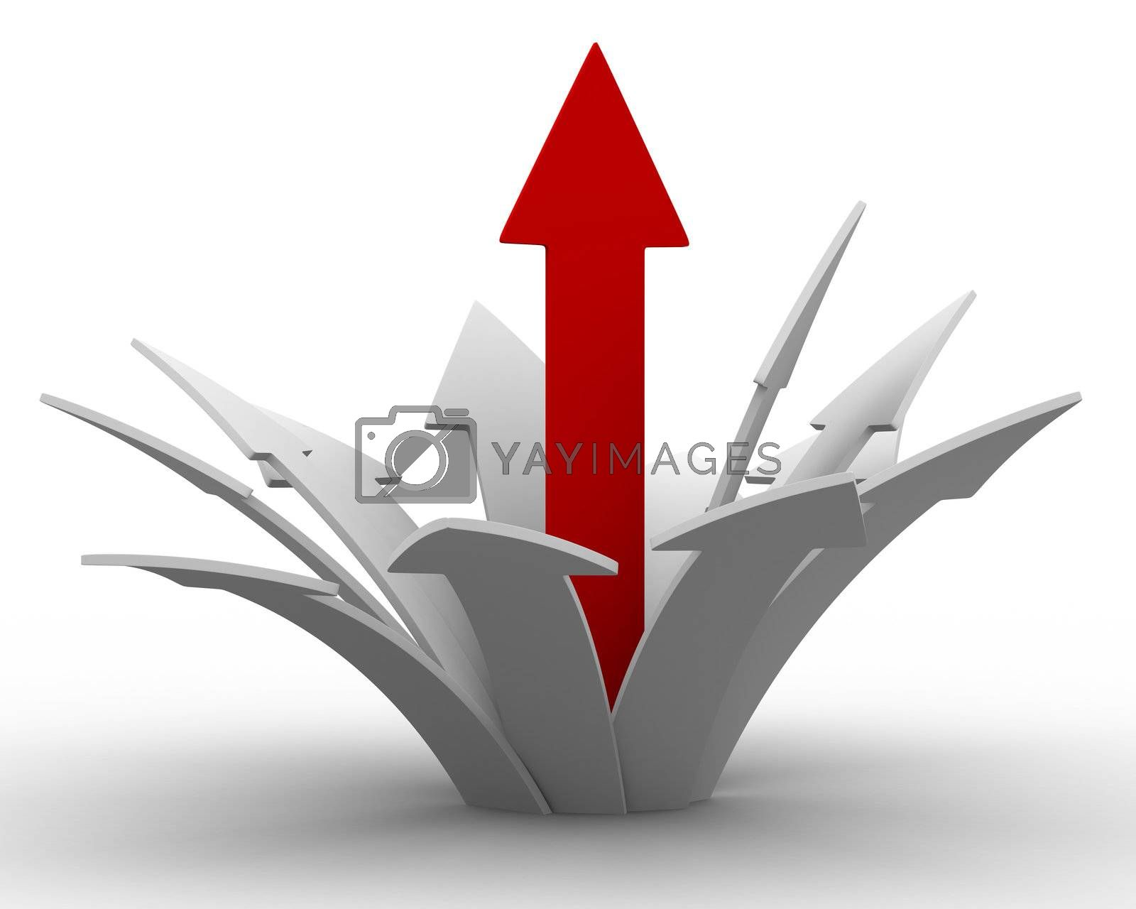 Royalty free image of Movement direction to success. Isolated 3D image by ISerg