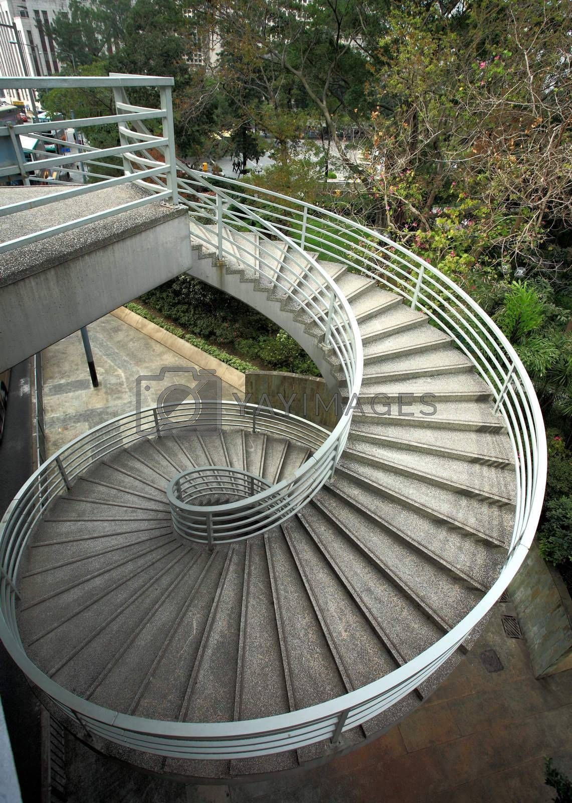 Royalty free image of It is the beautiful spiraling stairs  by leungchopan