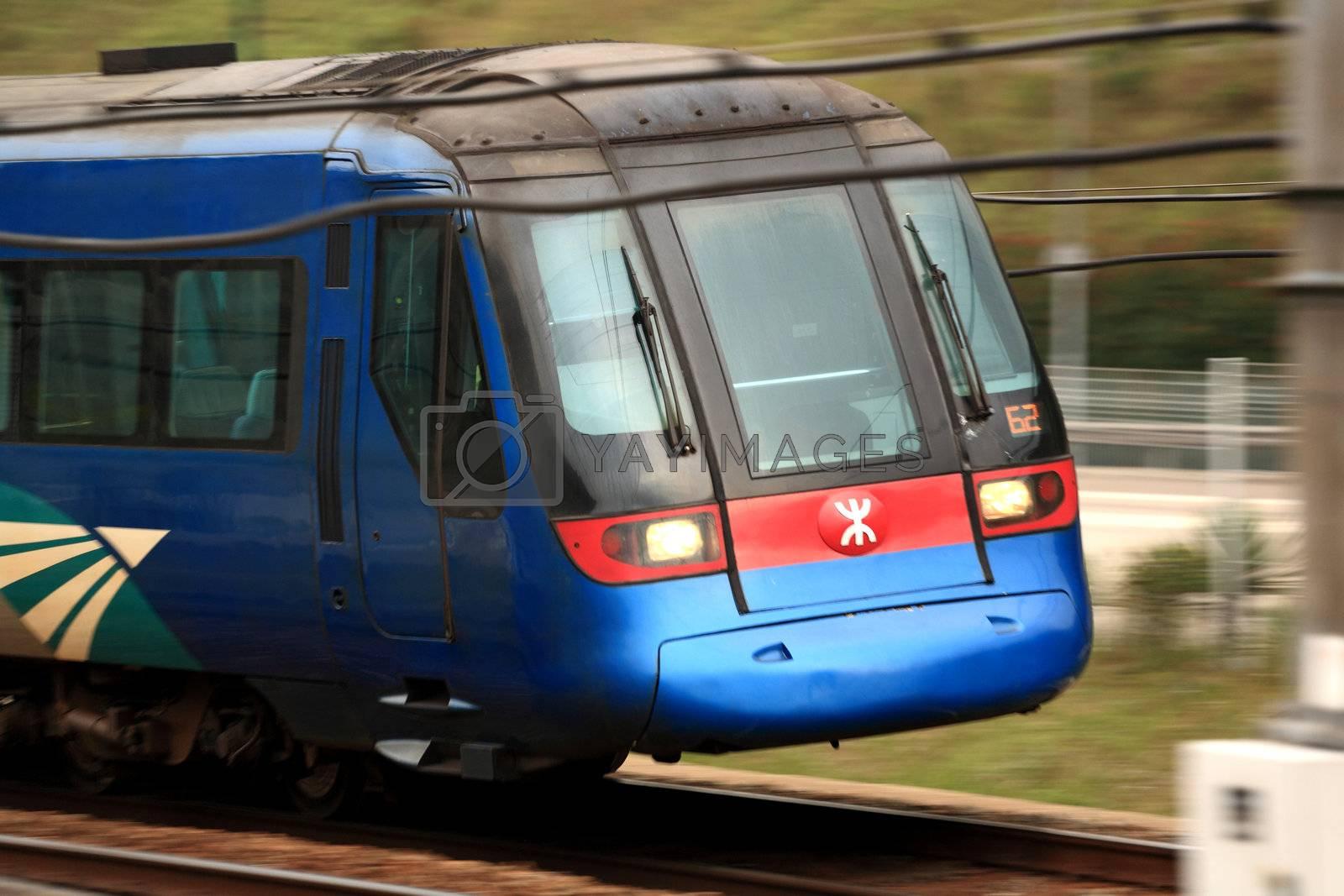 Royalty free image of Hong Kong train by leungchopan