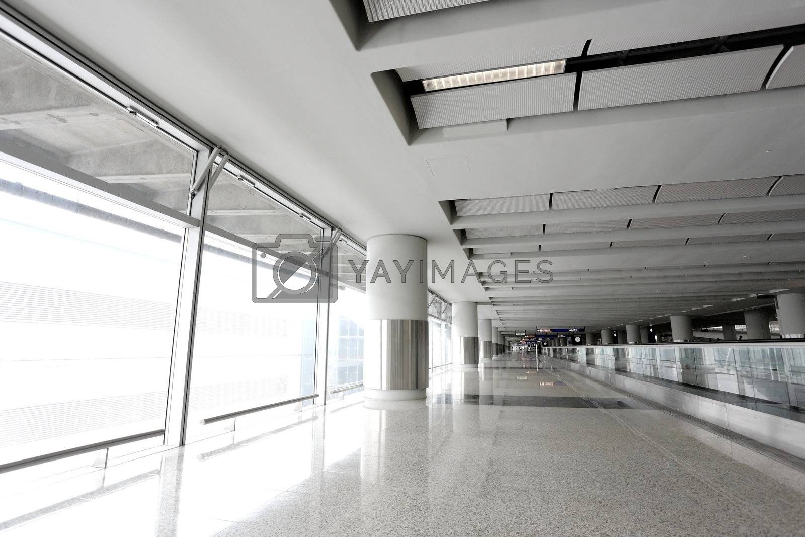 Royalty free image of modern corridor in building by leungchopan