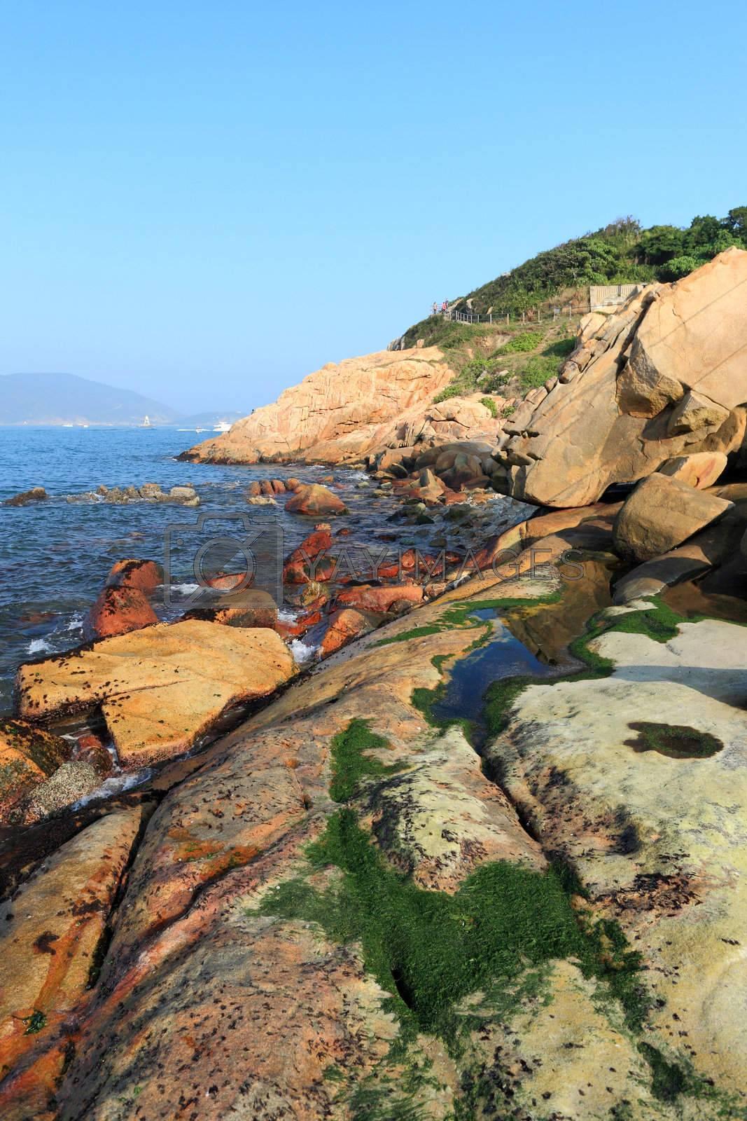 Royalty free image of Shek O coast, in Hong Kong, China by leungchopan