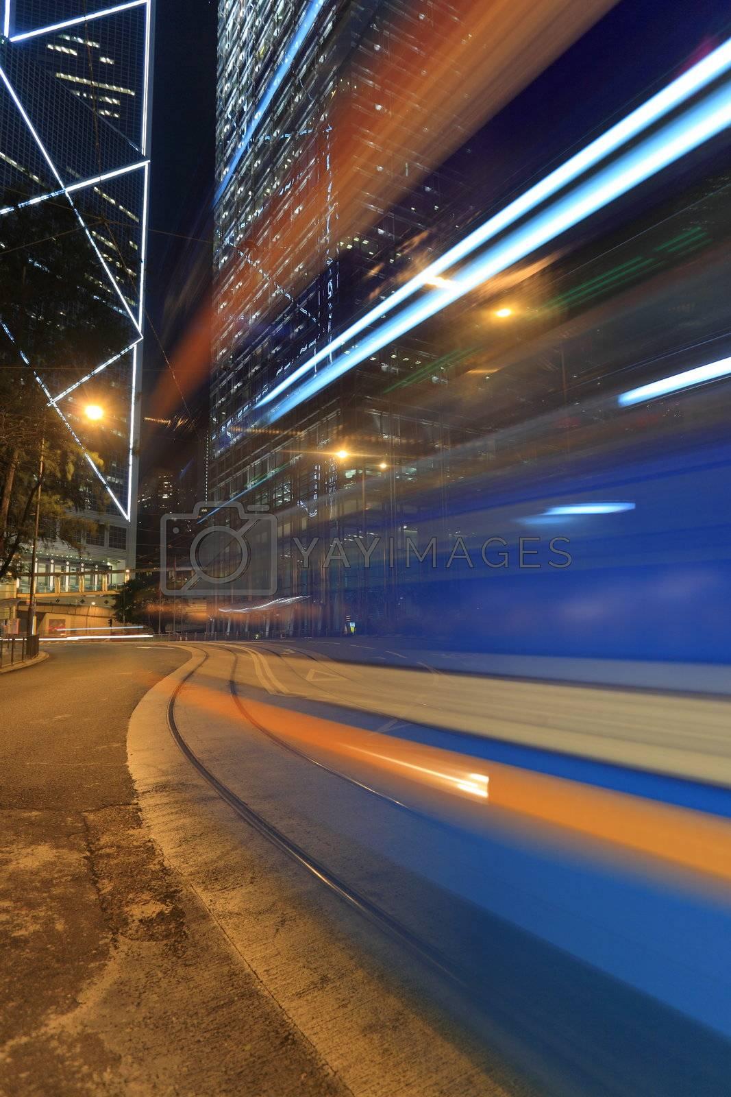 tram blur by leungchopan