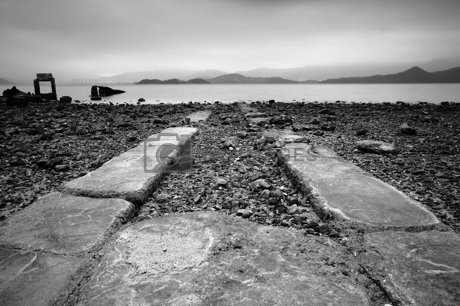 road go into sea by leungchopan