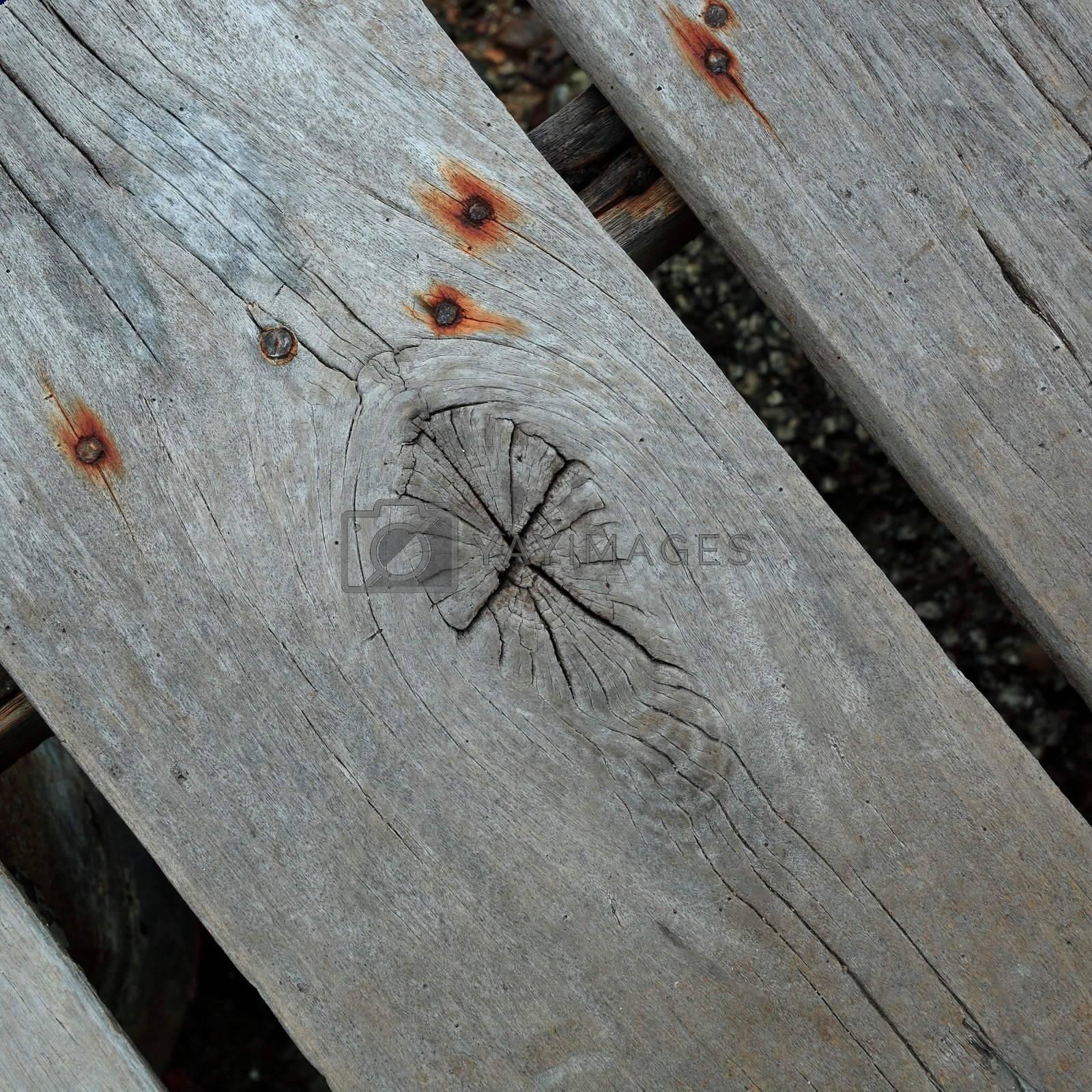 Old wood piece by leungchopan