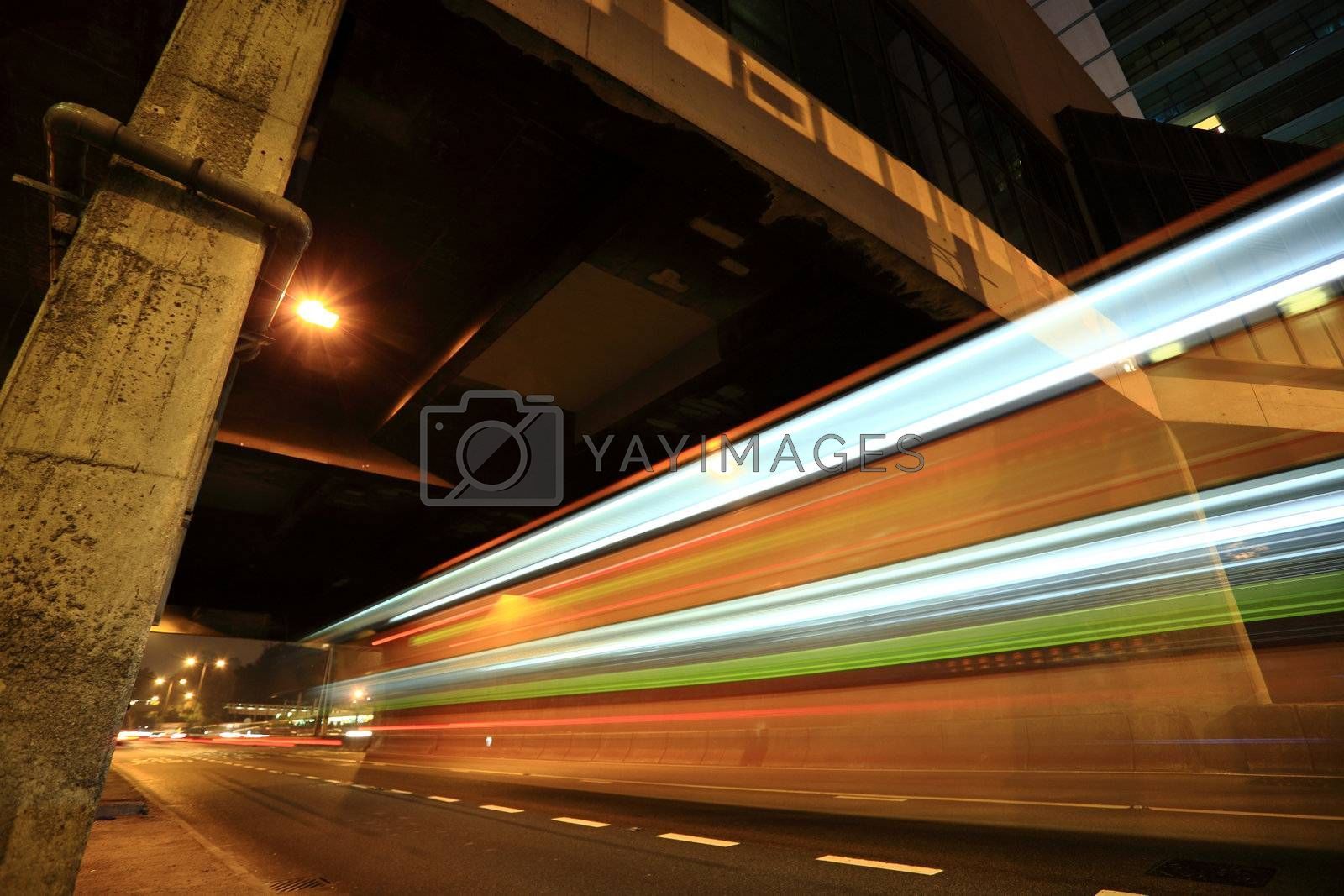Highway in Hong Kong by leungchopan