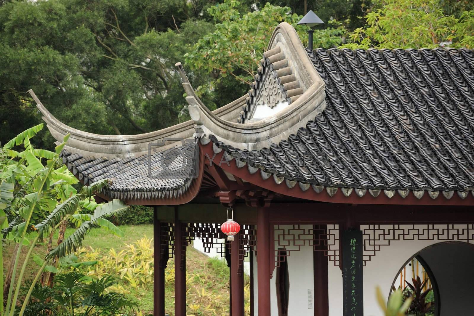 Royalty free image of chinese building eaves by leungchopan
