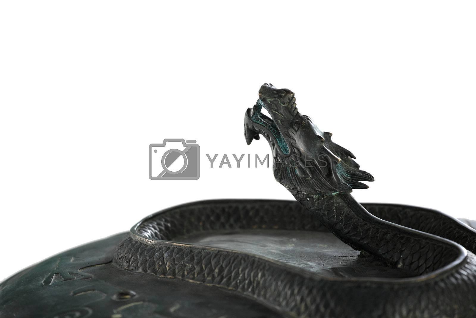 Royalty free image of bronze dragon by leungchopan