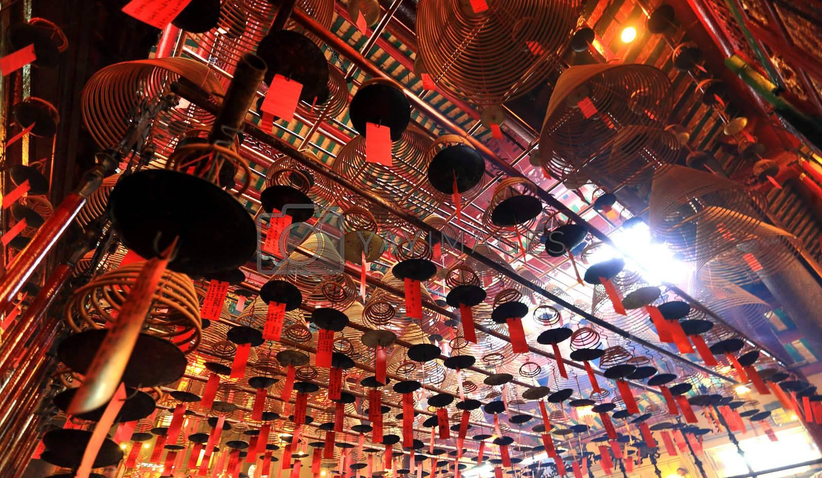 Royalty free image of Man Mo Temple. Hong Kong by leungchopan