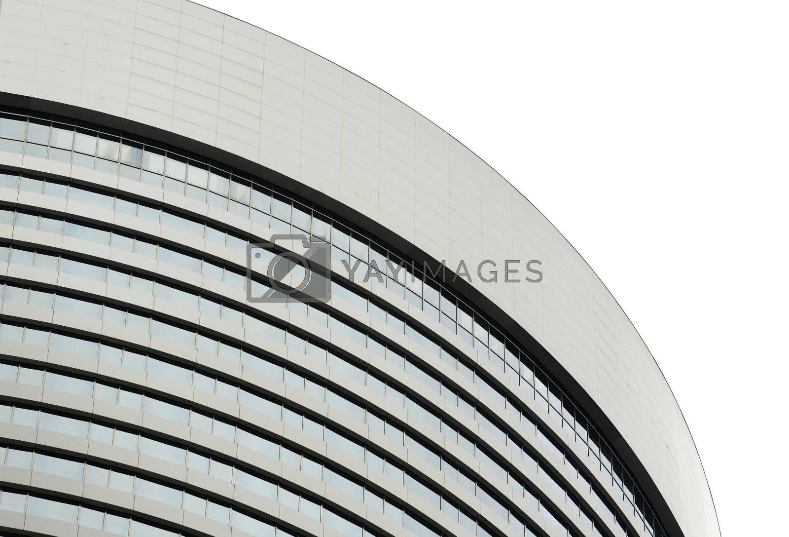 Royalty free image of business building exterior by leungchopan