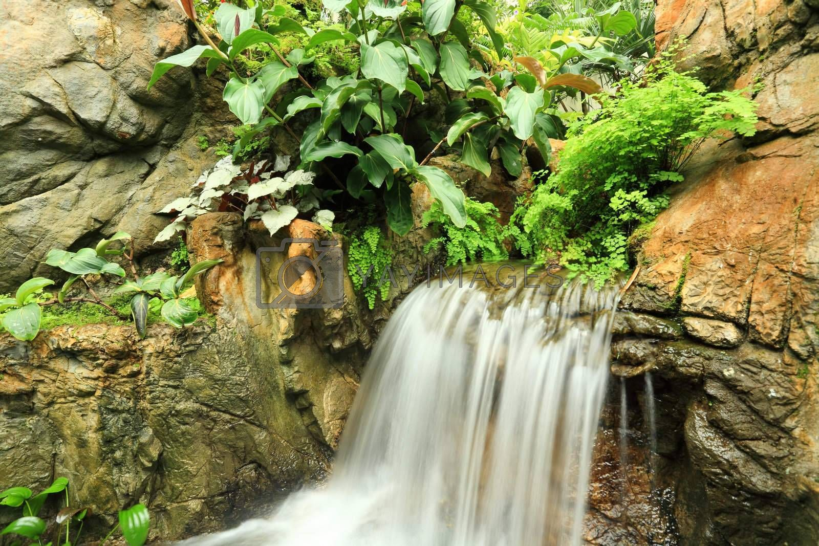Royalty free image of waterfall by leungchopan
