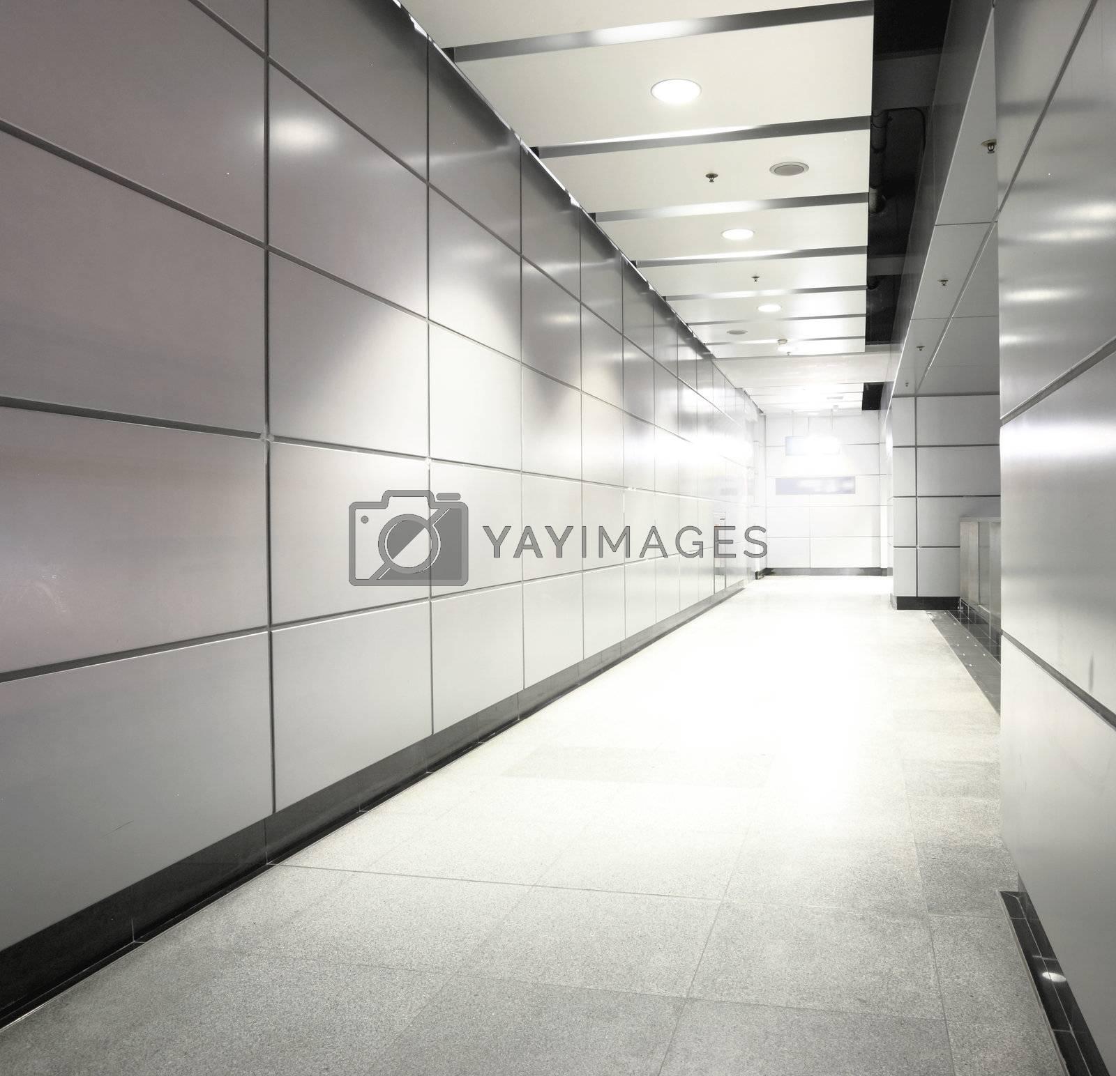 Royalty free image of modern corridor by leungchopan