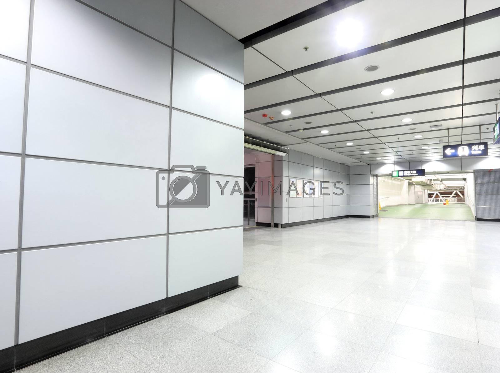 Royalty free image of modern metro station by leungchopan