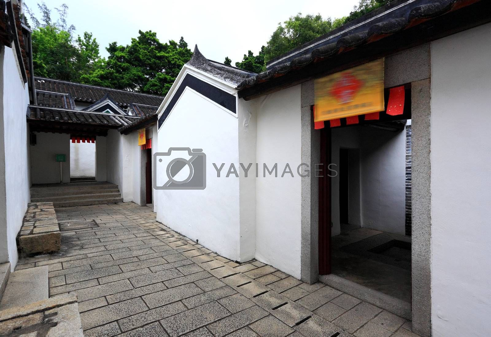 Royalty free image of chinese house by leungchopan