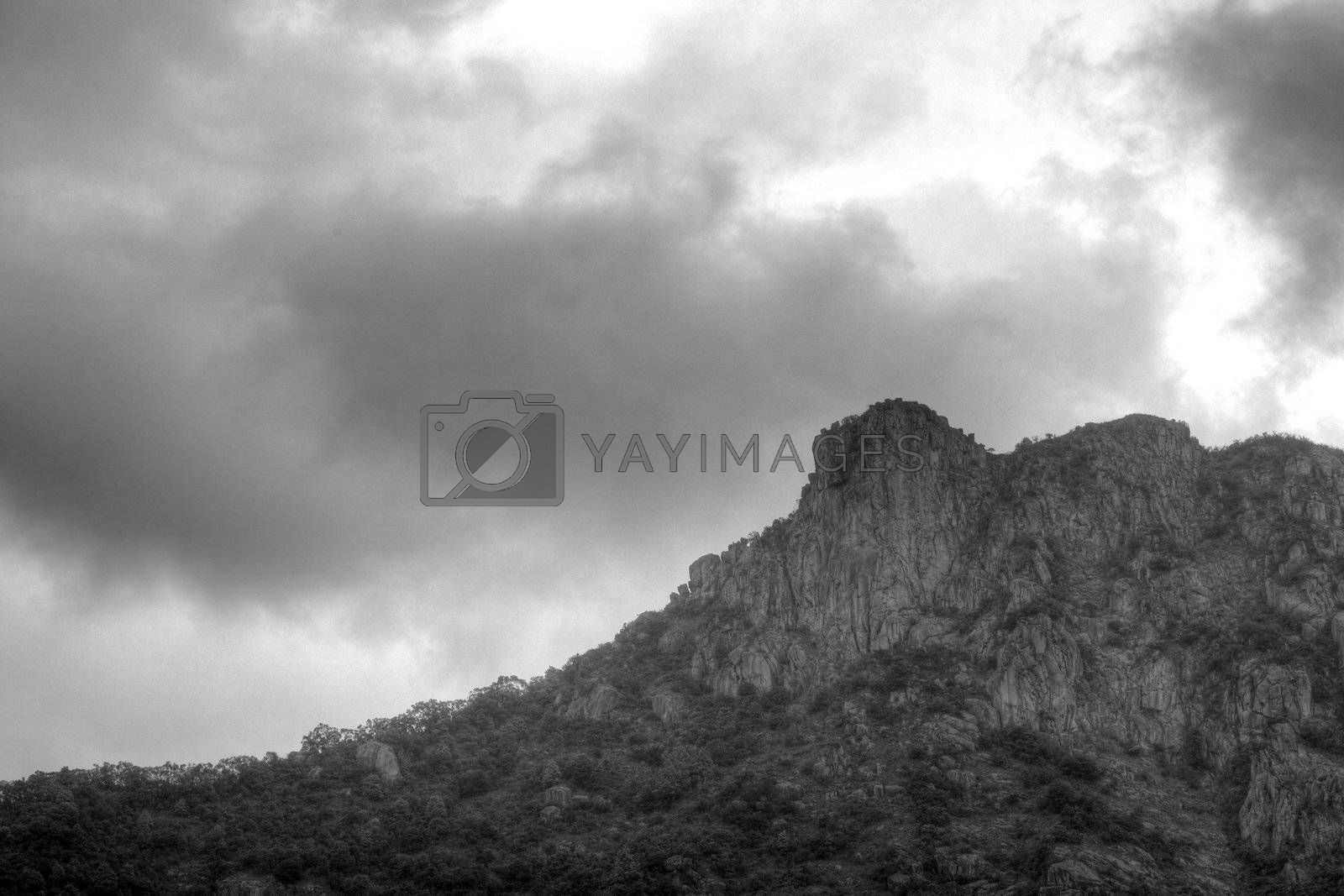 Royalty free image of Lion Rock by leungchopan