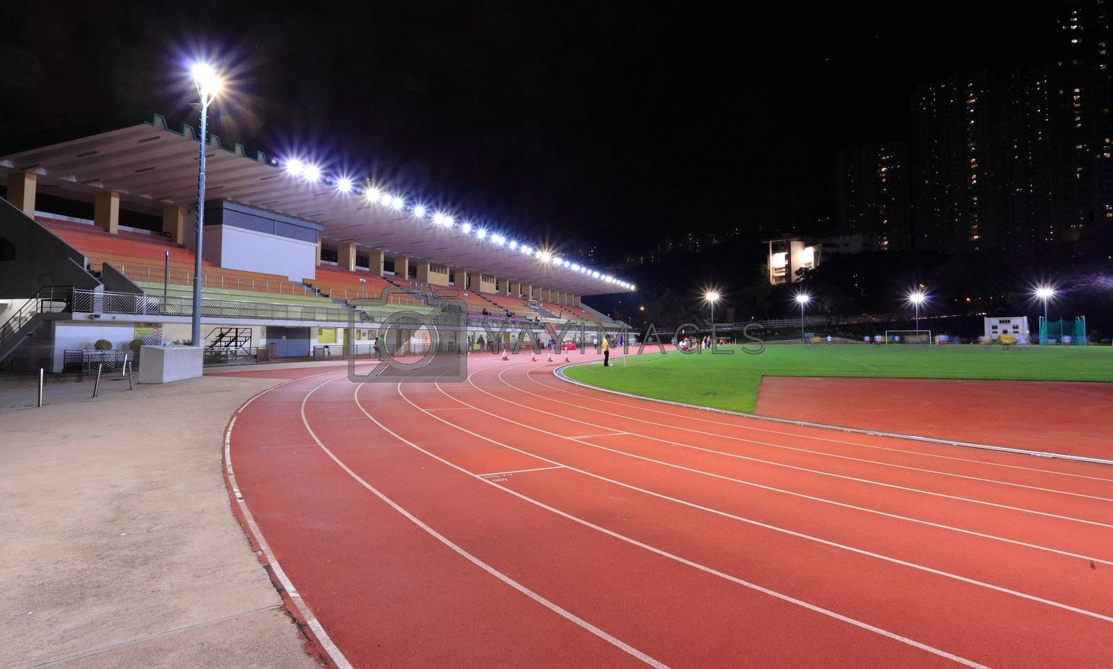 Royalty free image of Running tracks in a stadium by leungchopan