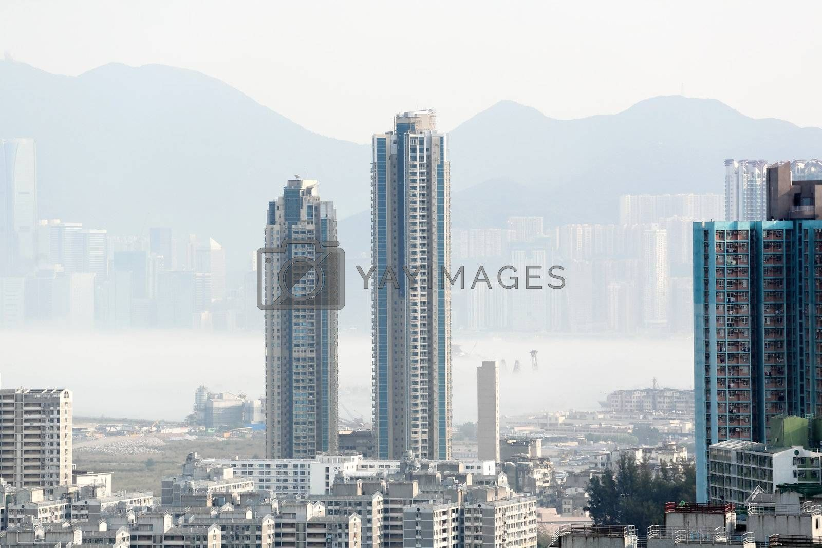 Royalty free image of Hong Kong in mist by leungchopan