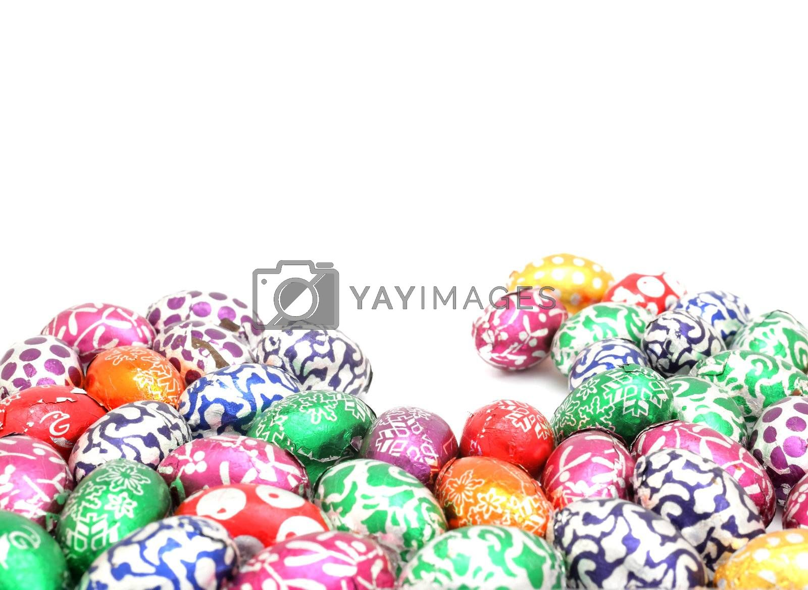 Royalty free image of Colorful easter eggs background by leungchopan