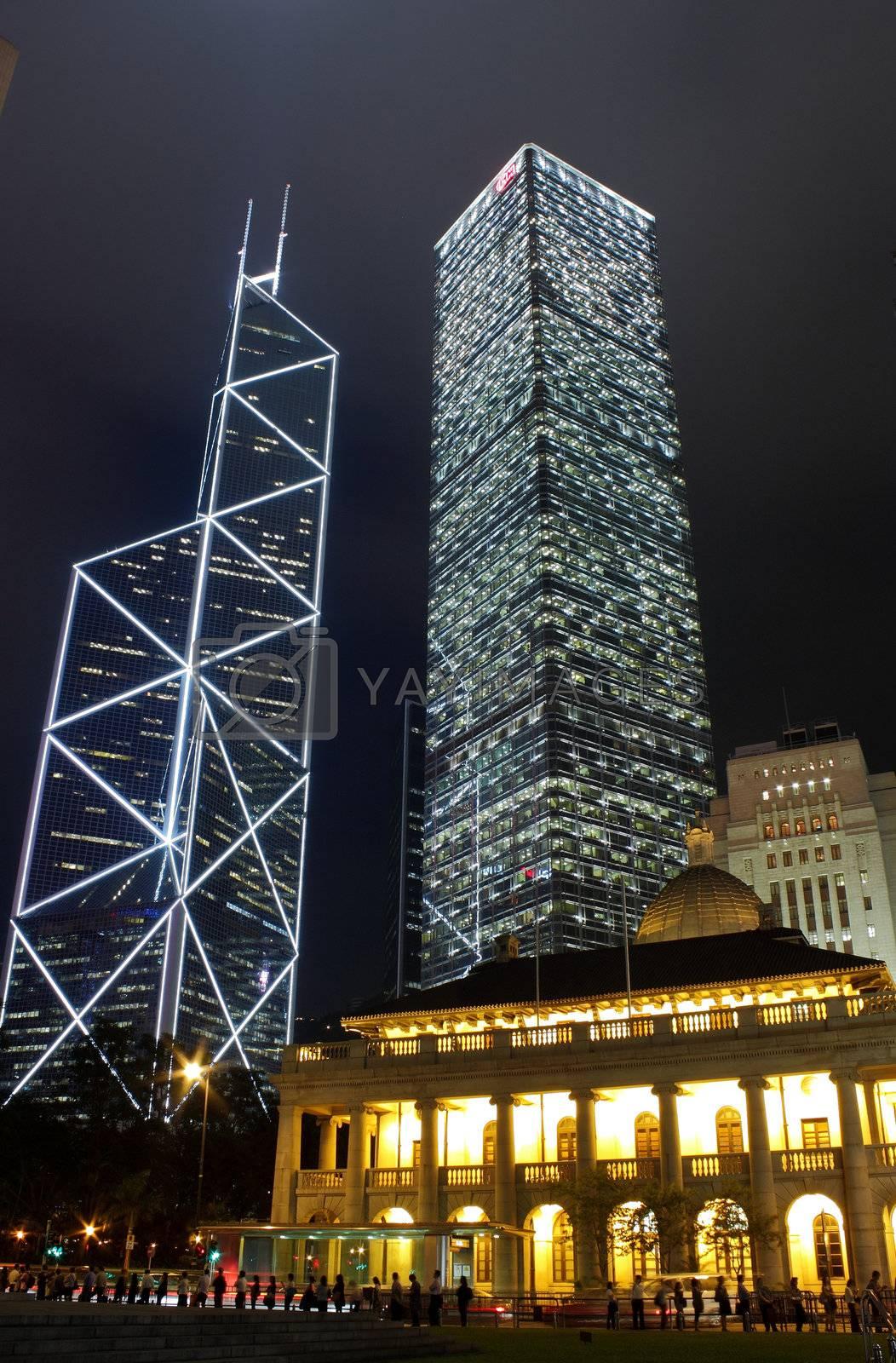Royalty free image of Hong Kong Night Scene by leungchopan