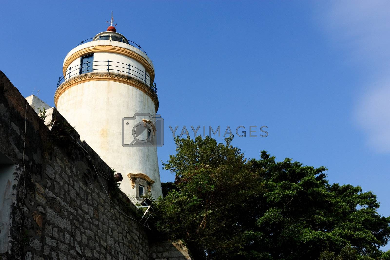 Royalty free image of old light house in macau by leungchopan
