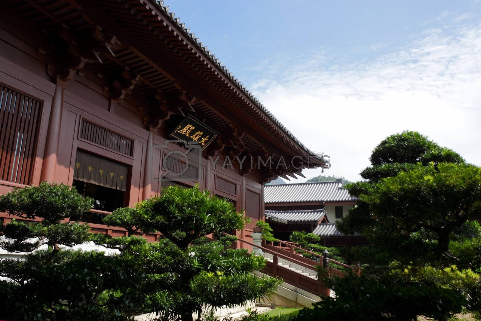 Royalty free image of Chi Lin Nunnery by leungchopan