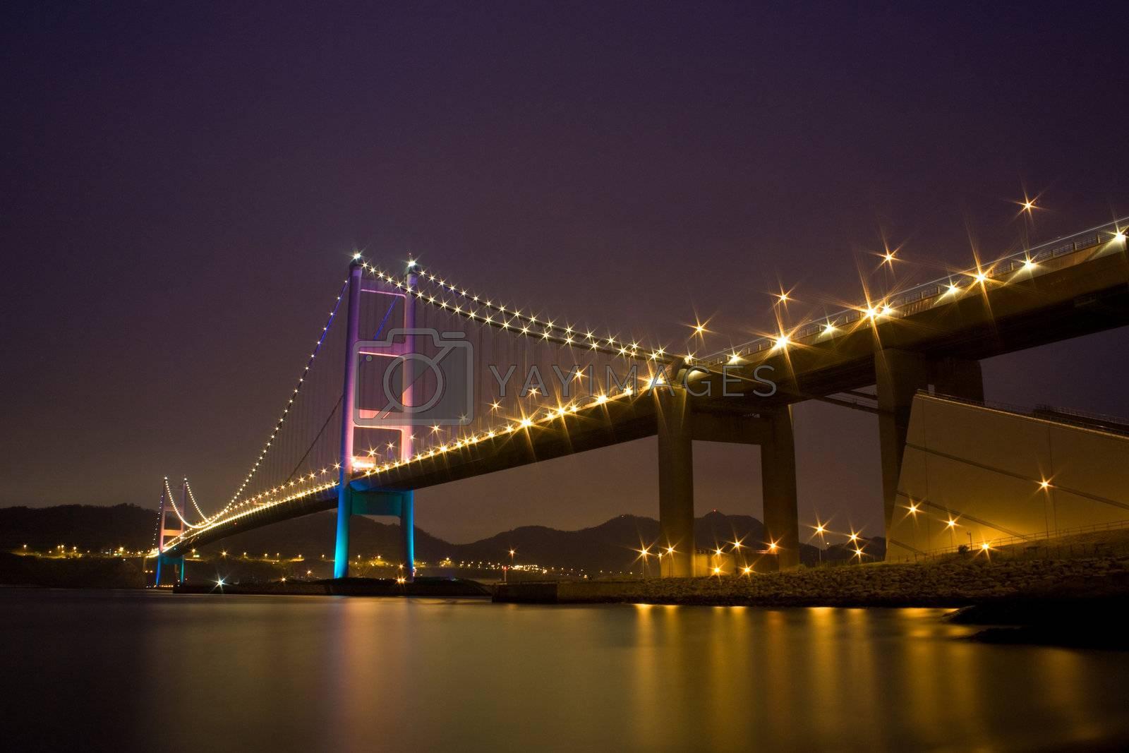Tsing Ma Bridge by leungchopan