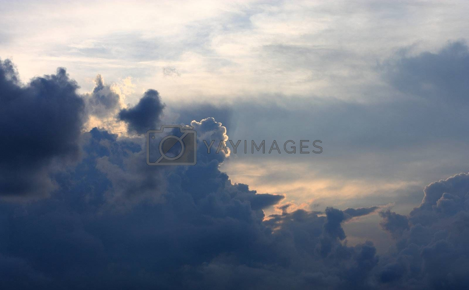Royalty free image of sky with many clouds, after storm by leungchopan