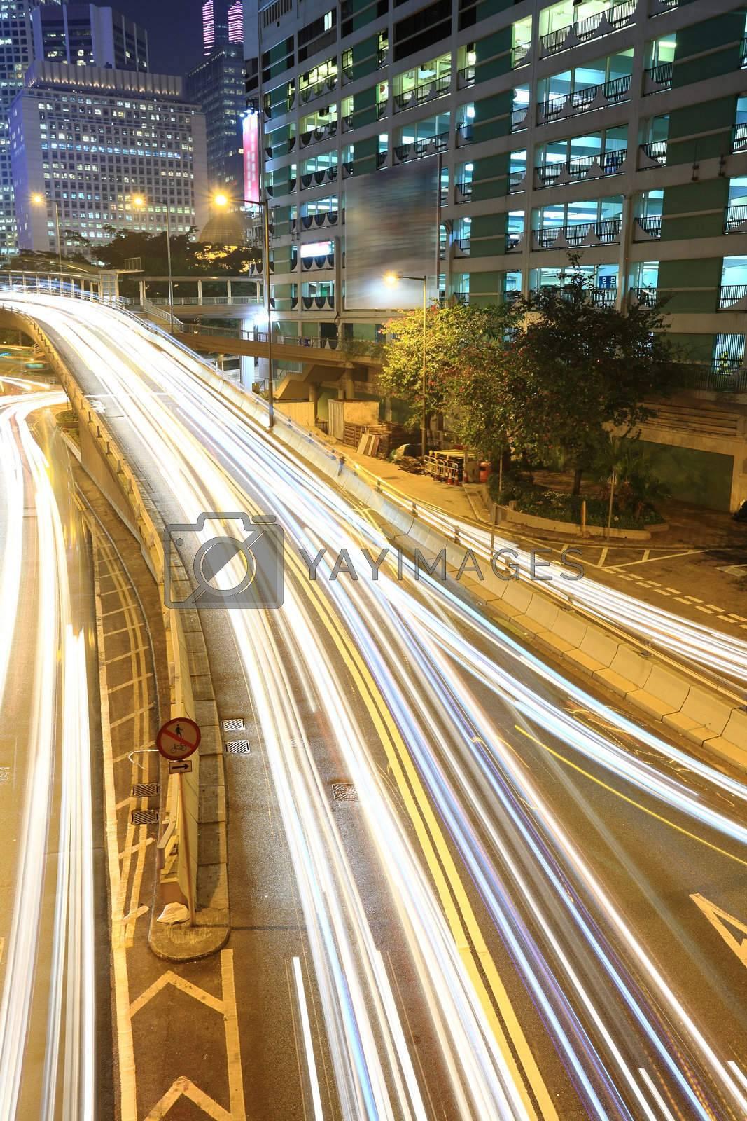 Hong Kong at night by leungchopan