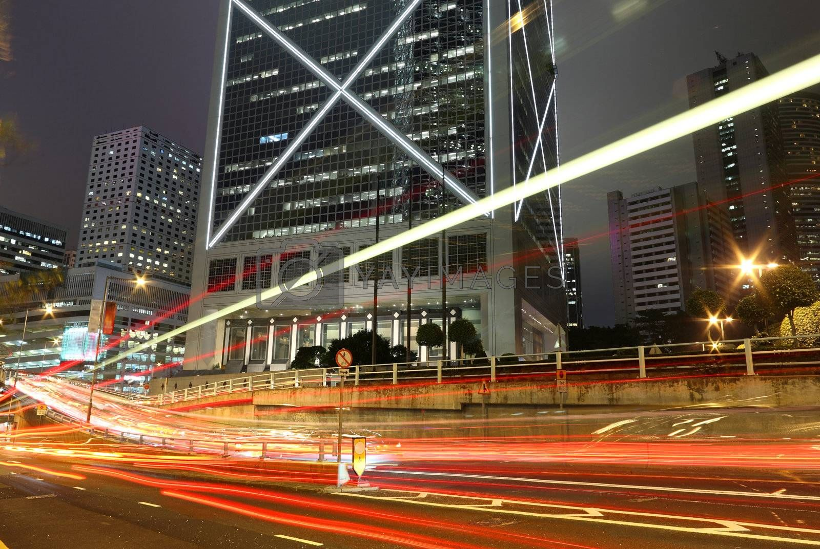 Royalty free image of Hong Kong night by leungchopan