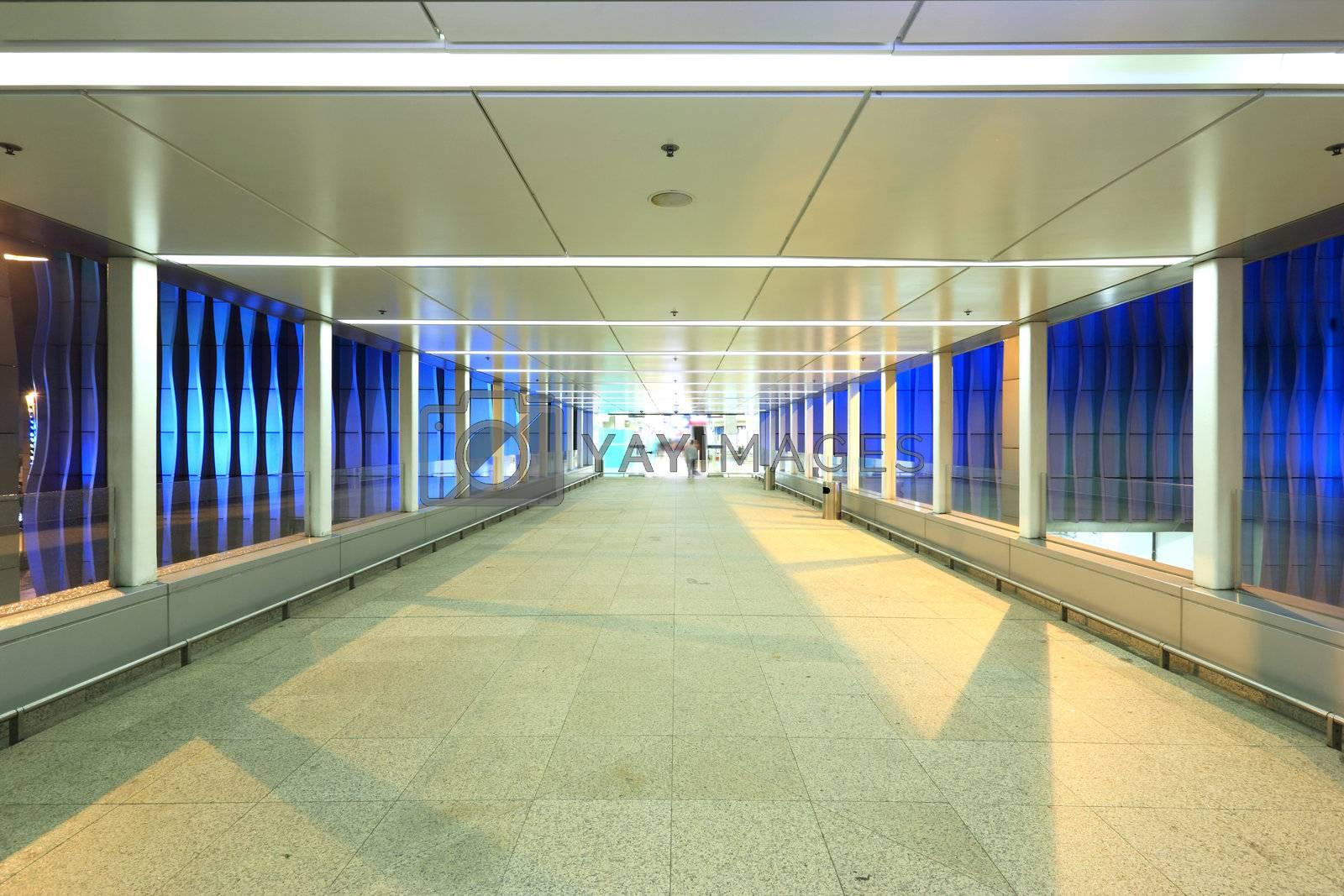 Royalty free image of modern footbridge by leungchopan