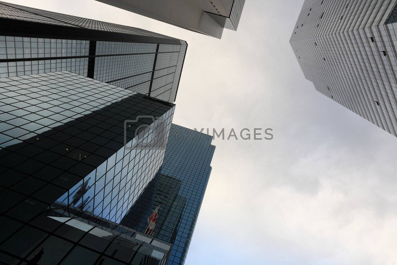 Royalty free image of High business buildings by leungchopan