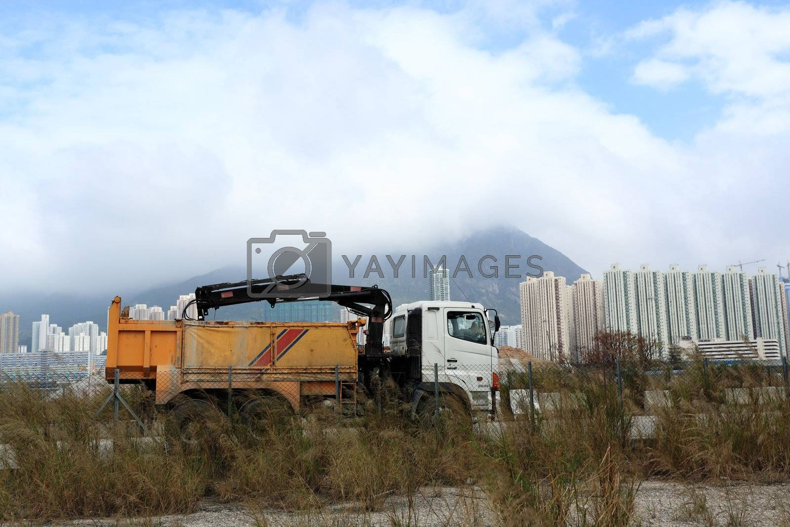Royalty free image of construction truck by leungchopan