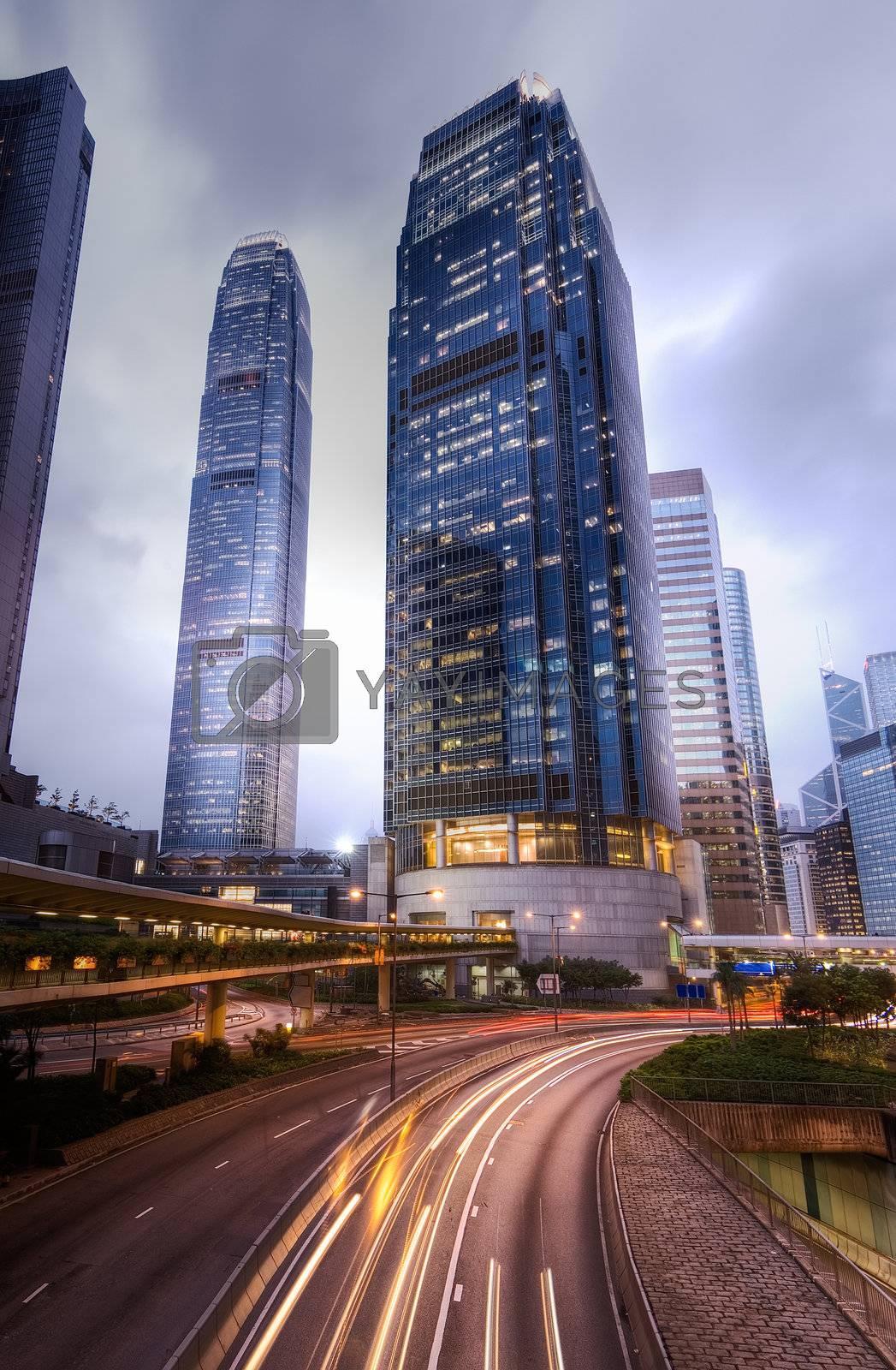 Royalty free image of Modern city night by elwynn
