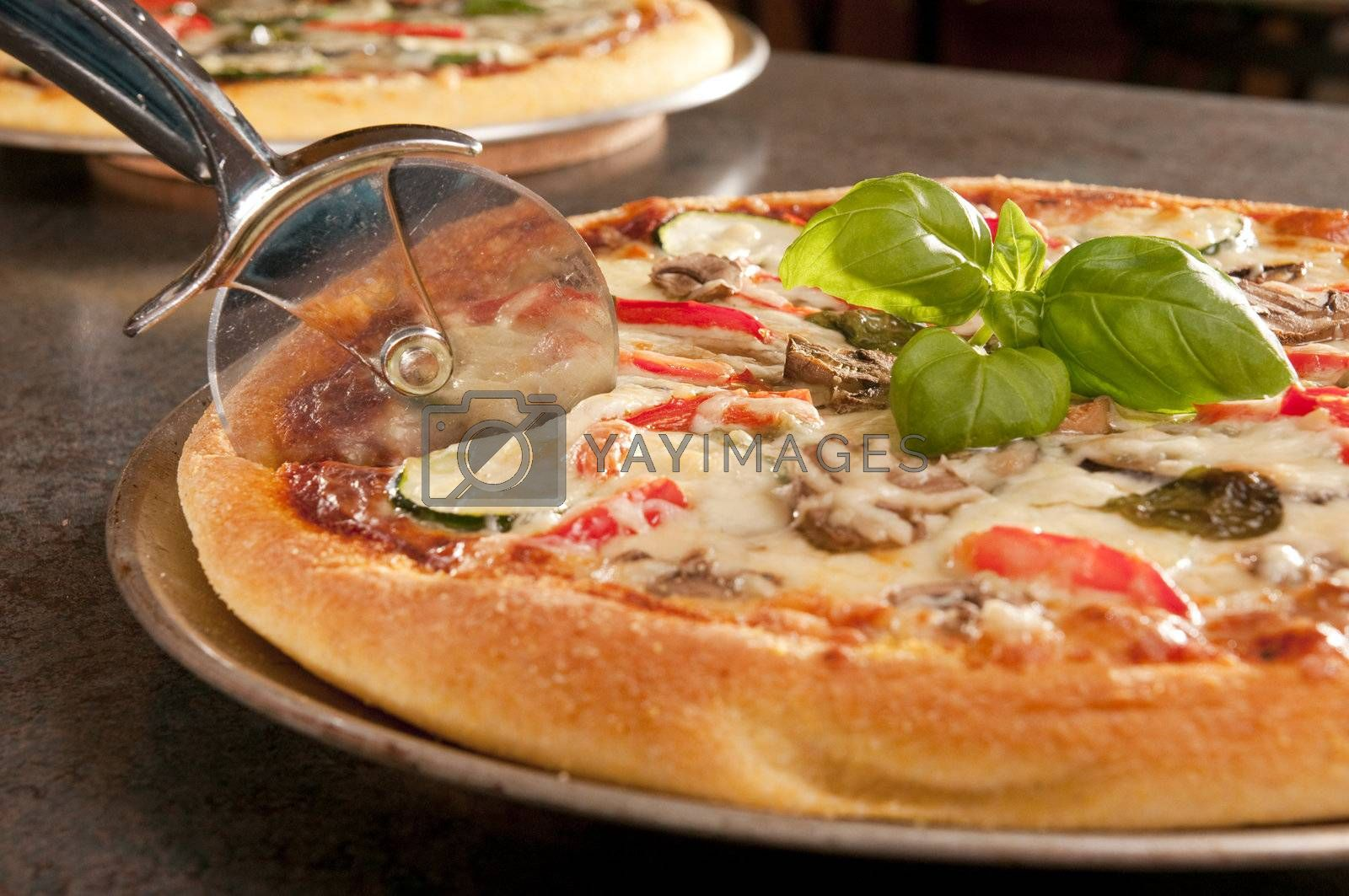 Royalty free image of Cooked pizza by vladikpod