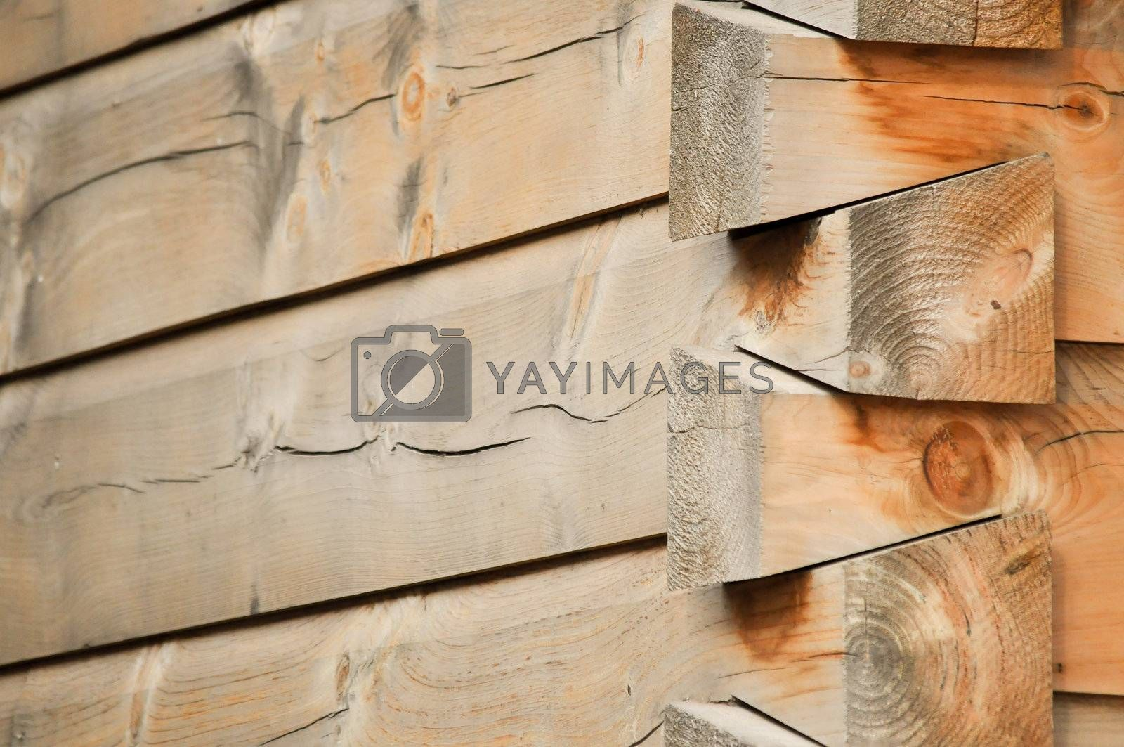 Royalty free image of Cabin Corner on Right by RefocusPhoto