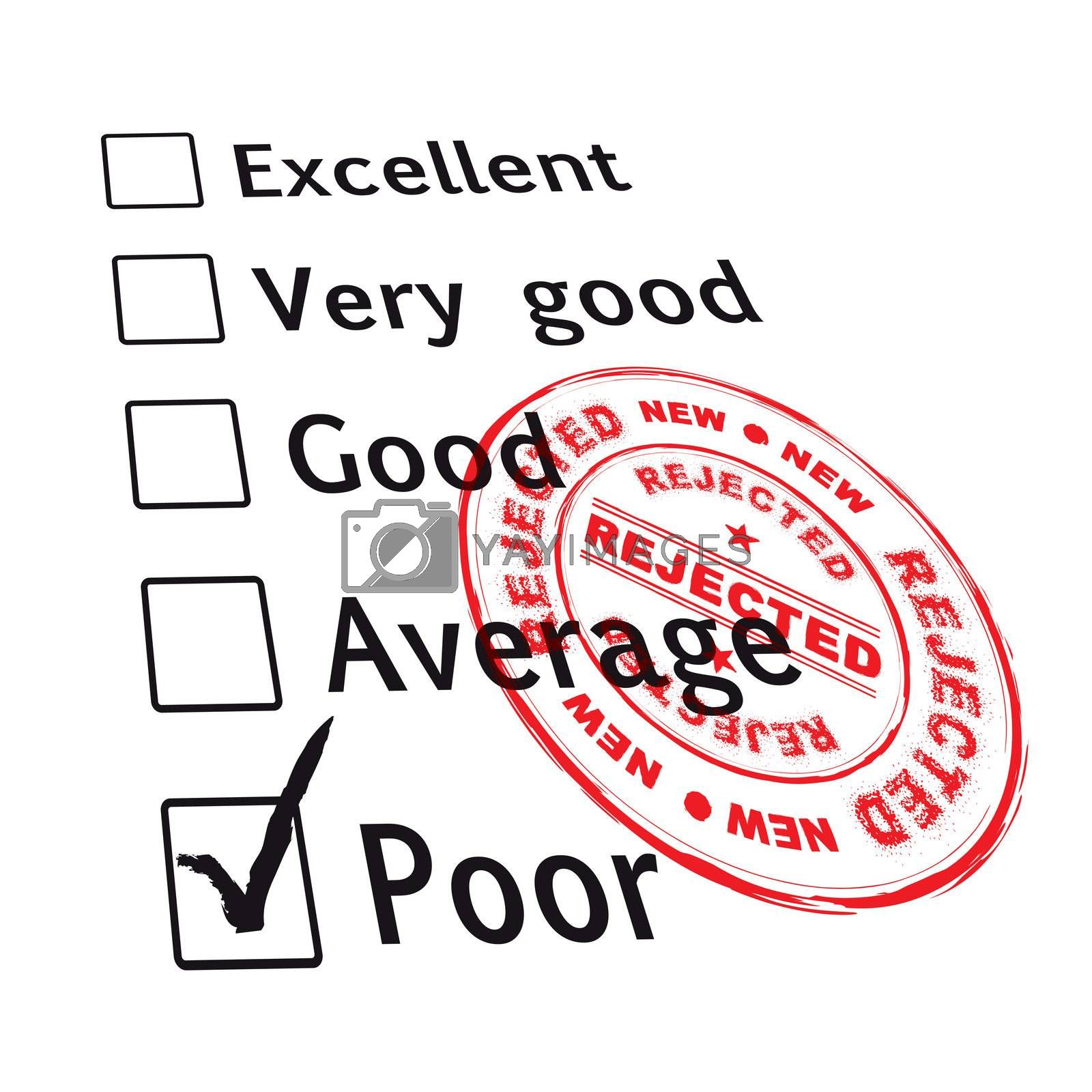 Royalty free image of poor evaluation failed by nicemonkey