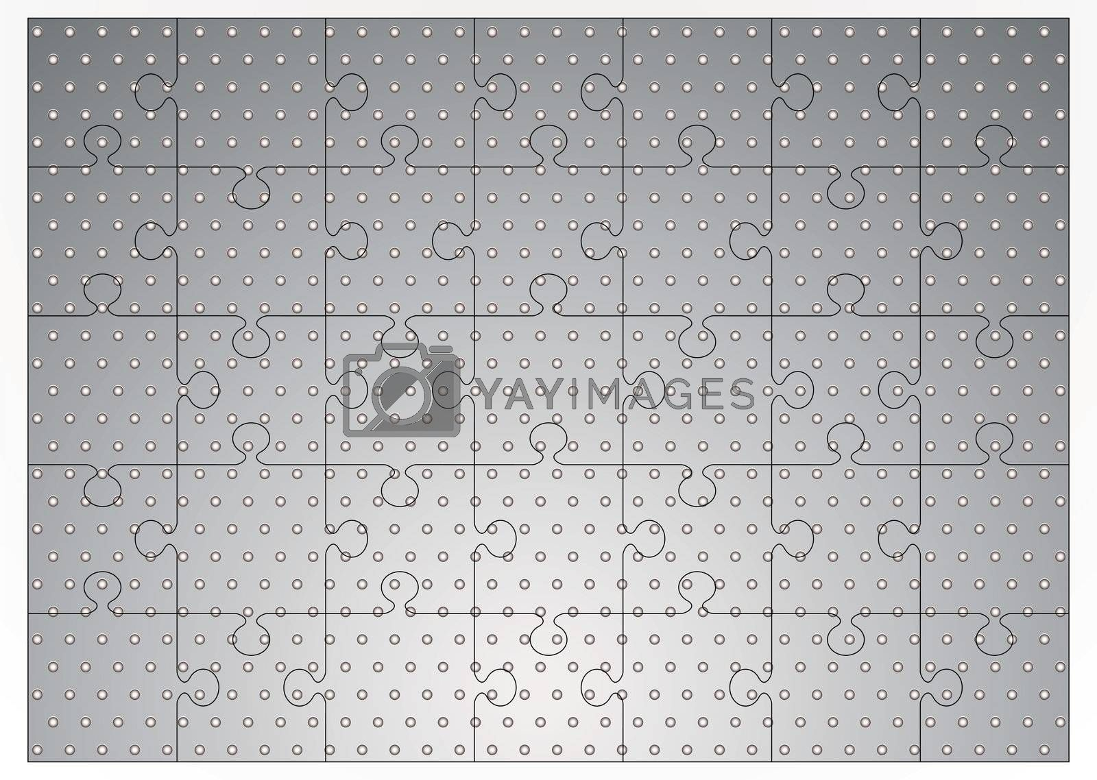 Silver metal jigsaw puzzle by nicemonkey
