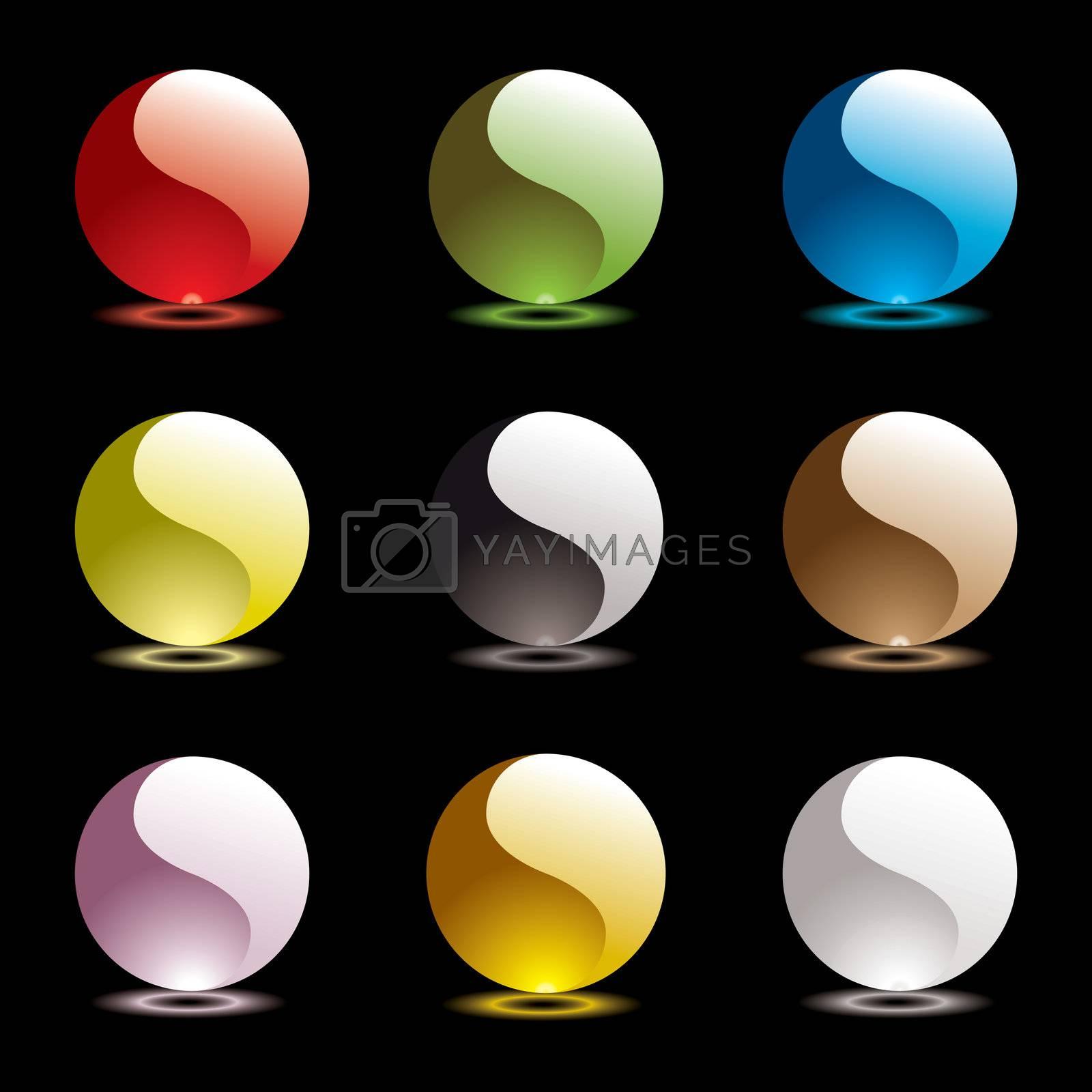 Royalty free image of gel round ying yang by nicemonkey