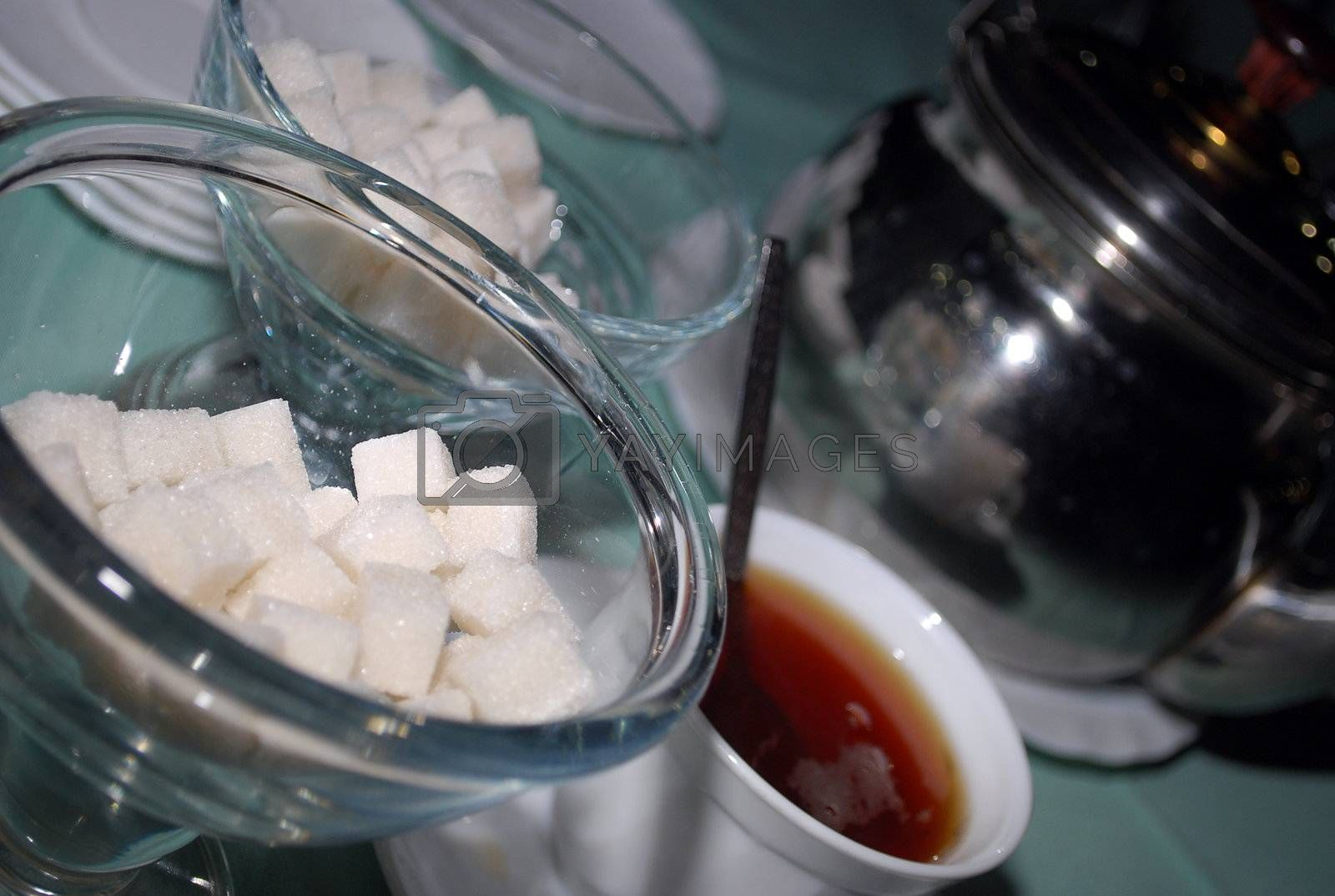 Royalty free image of sugar and tea by olegator1977