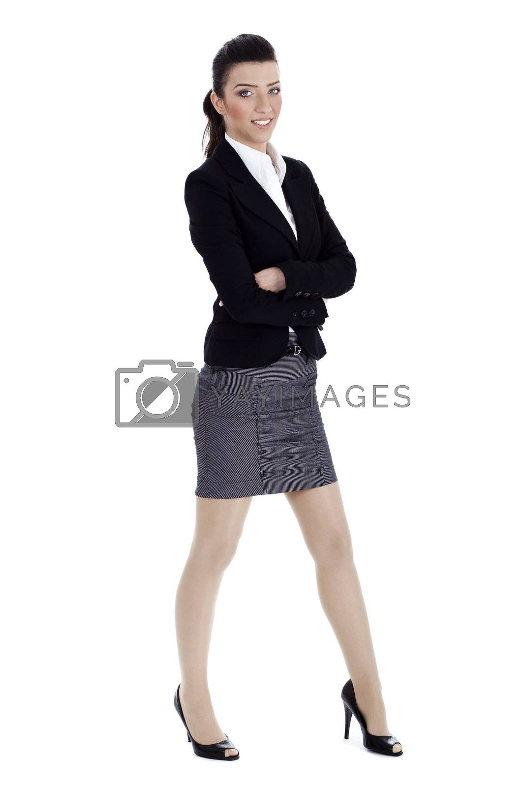 Royalty free image of Young business woman in professional costume by get4net